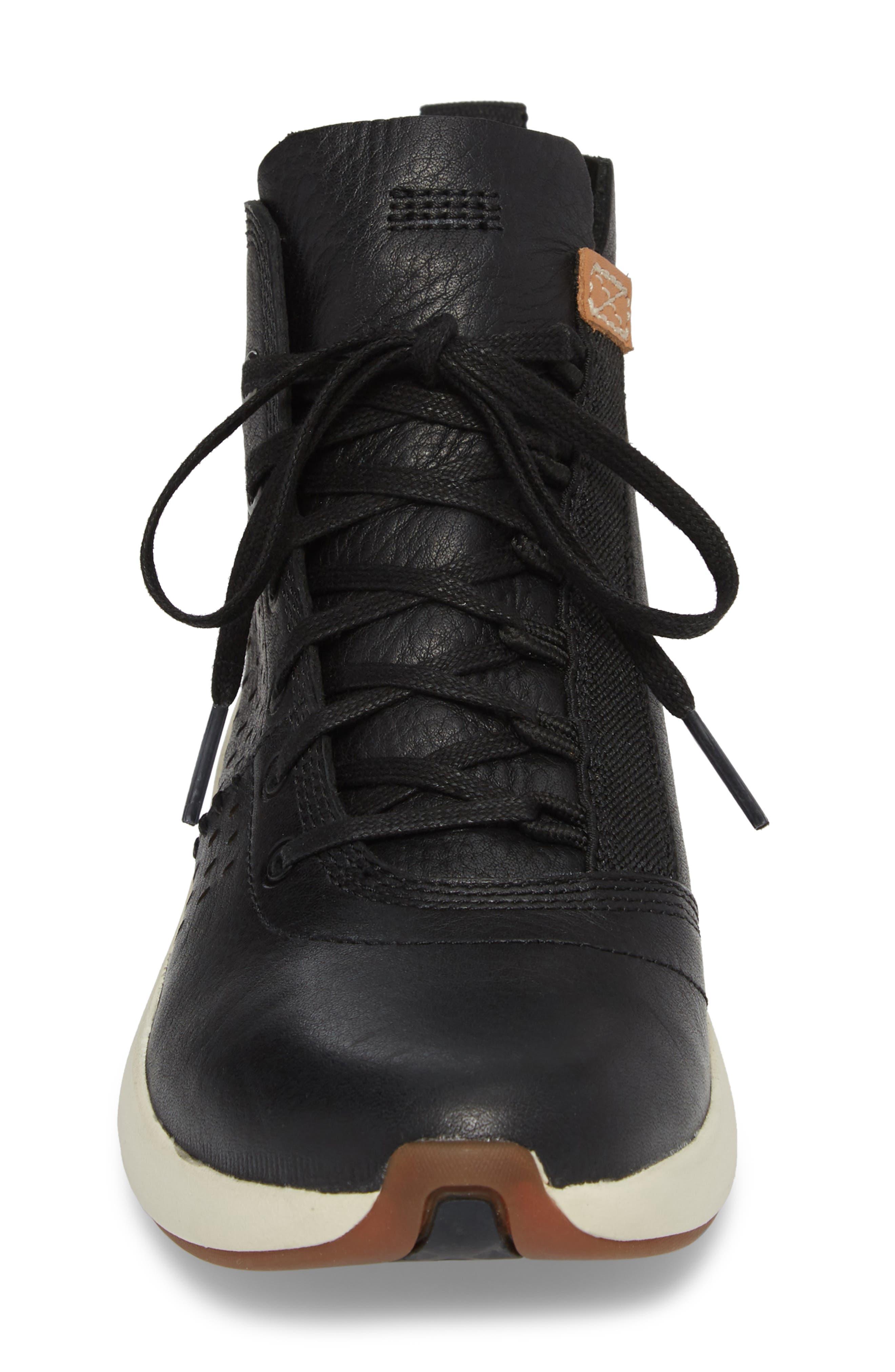 Flyroam Go Chukka Bootie,                             Alternate thumbnail 4, color,                             Black Leather
