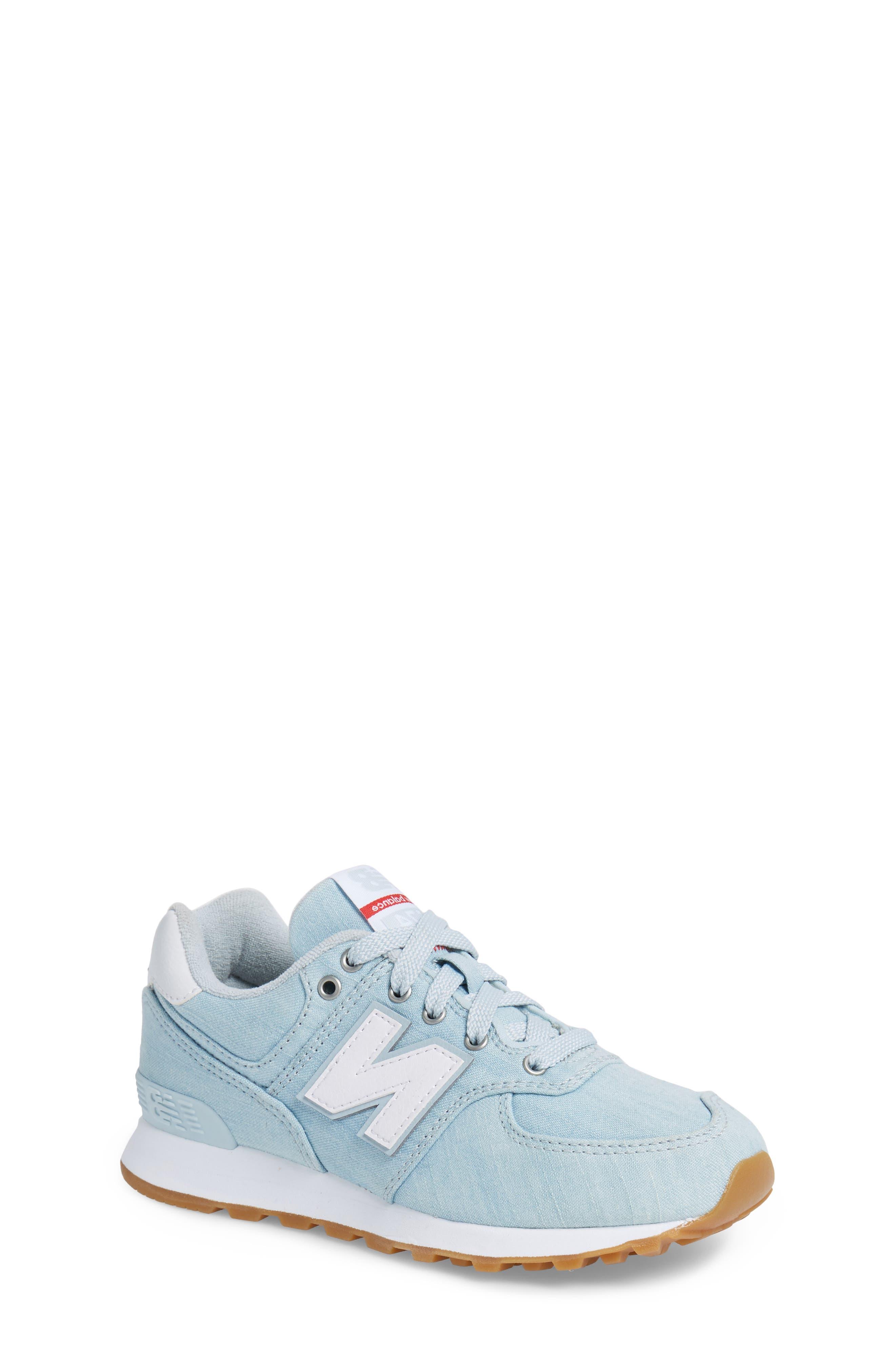 574v1 Sneaker,                         Main,                         color, Light Porcelain Blue