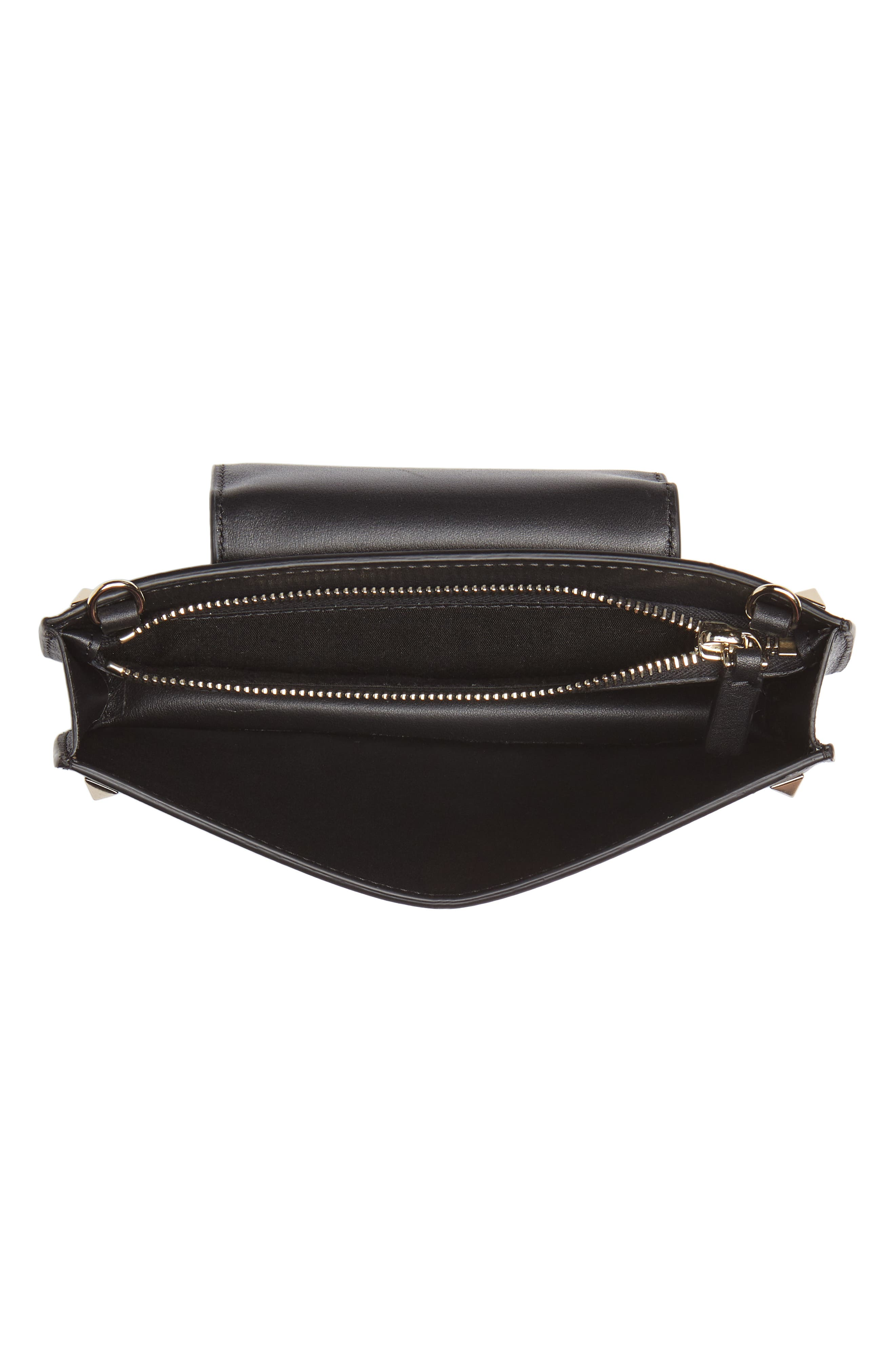 Rockstud Leather Smartphone Wallet,                             Alternate thumbnail 2, color,                             Black