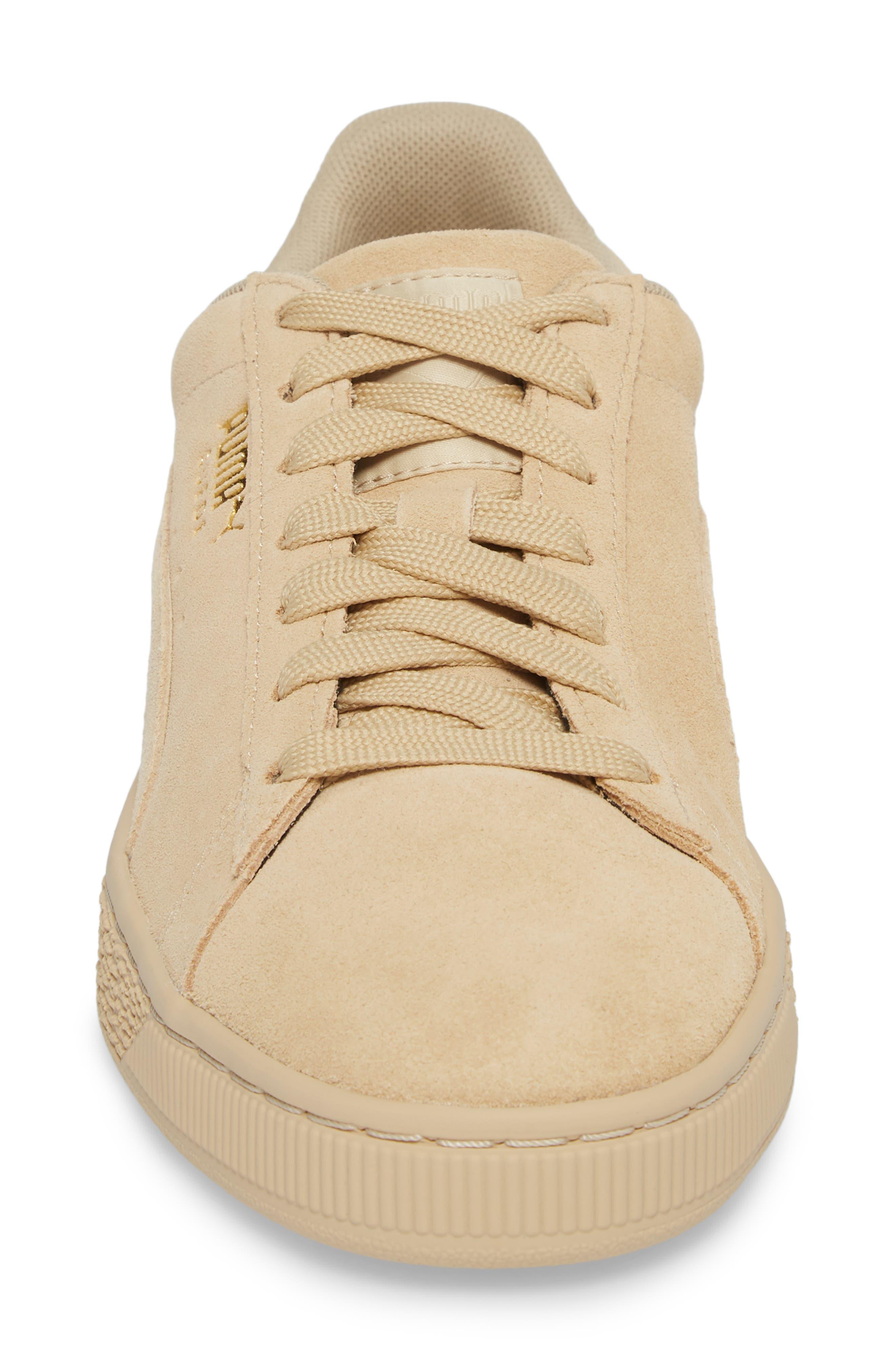 Suede Classic Tonal Sneaker,                             Alternate thumbnail 4, color,                             Pebble Suede