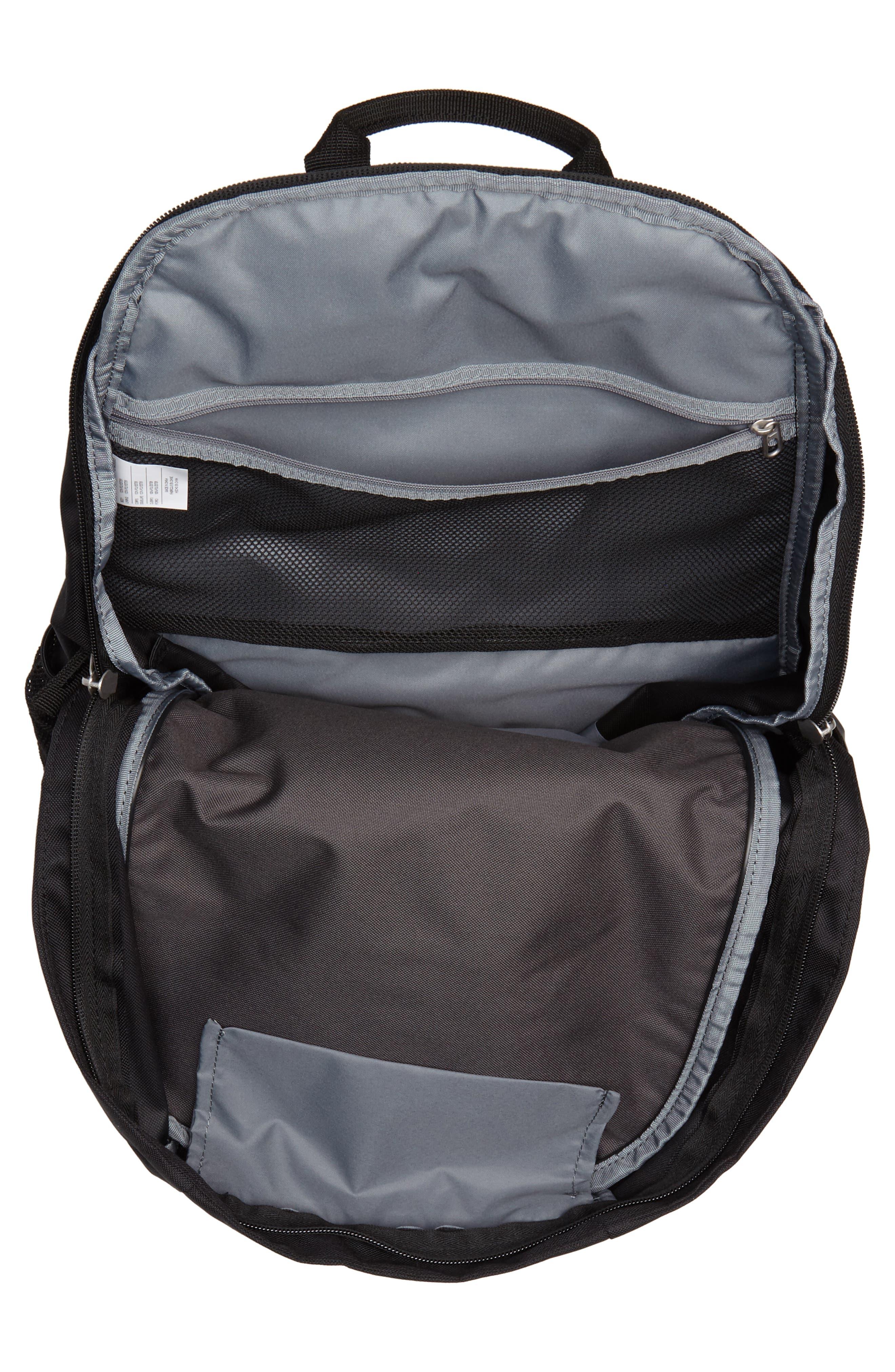 Club Team Backpack,                             Alternate thumbnail 4, color,                             Black/ Black/ White