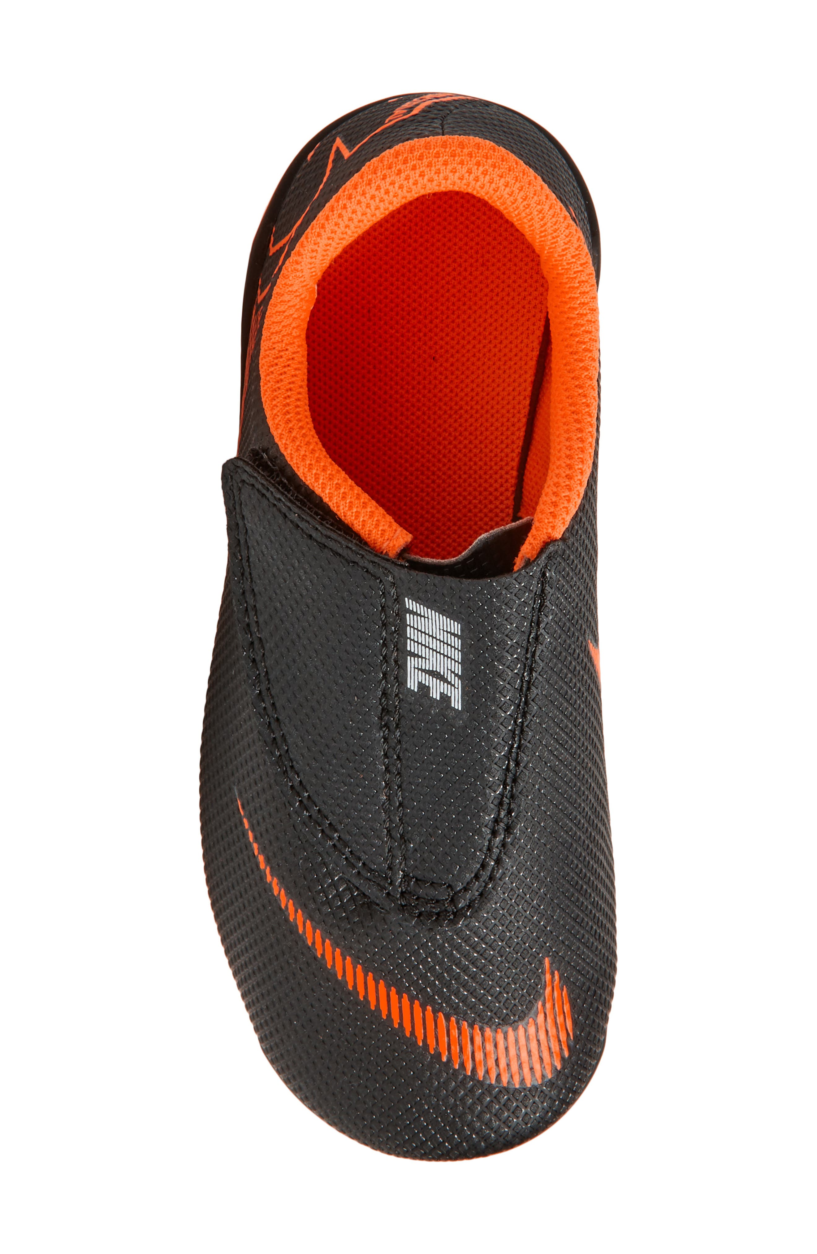 Tiempo Legend 7 Club Firm Ground Soccer Cleat,                             Alternate thumbnail 5, color,                             Black/ Total Orange/ White