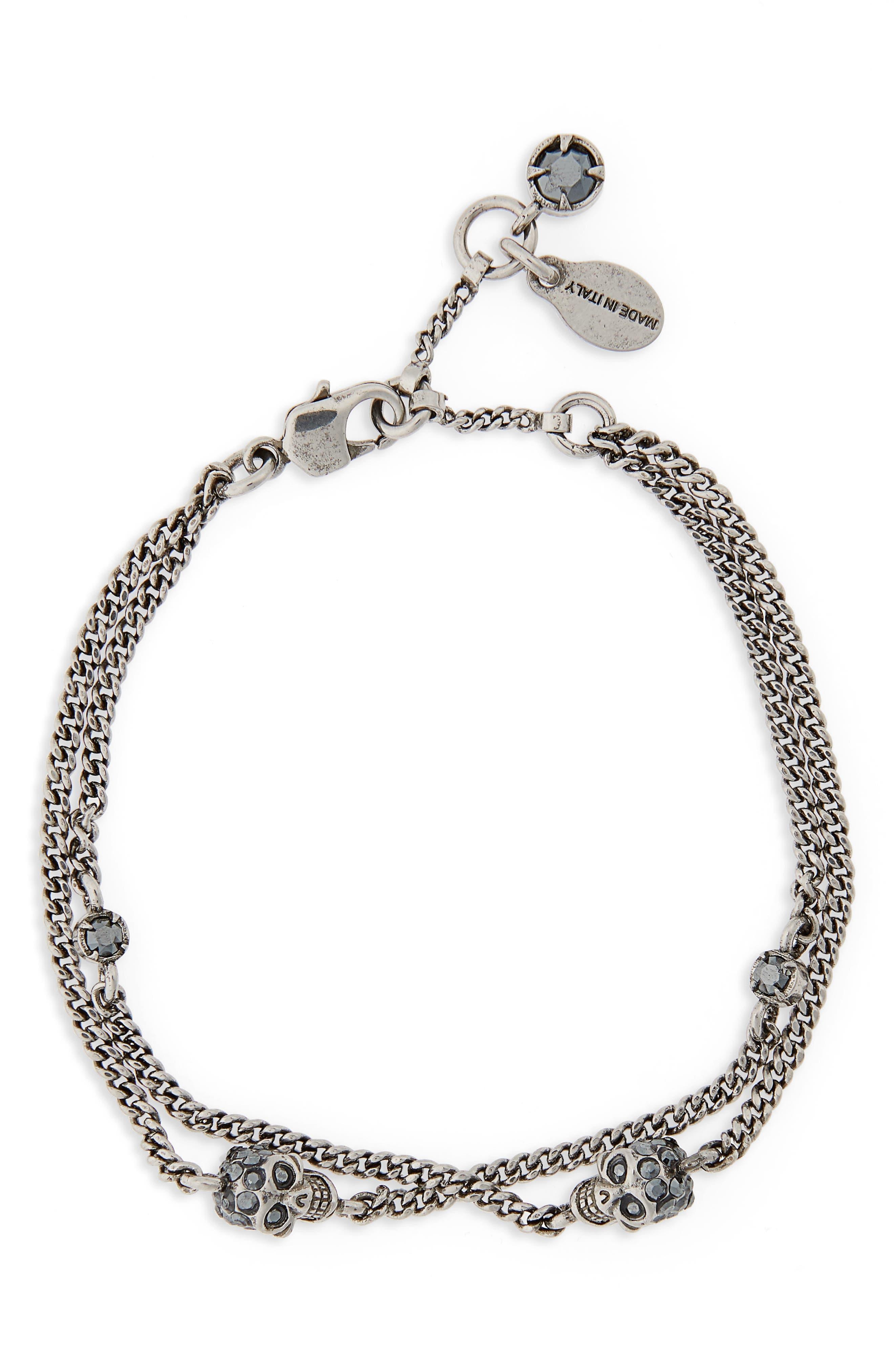Alexander McQueen Skull Multi Chain Bracelet