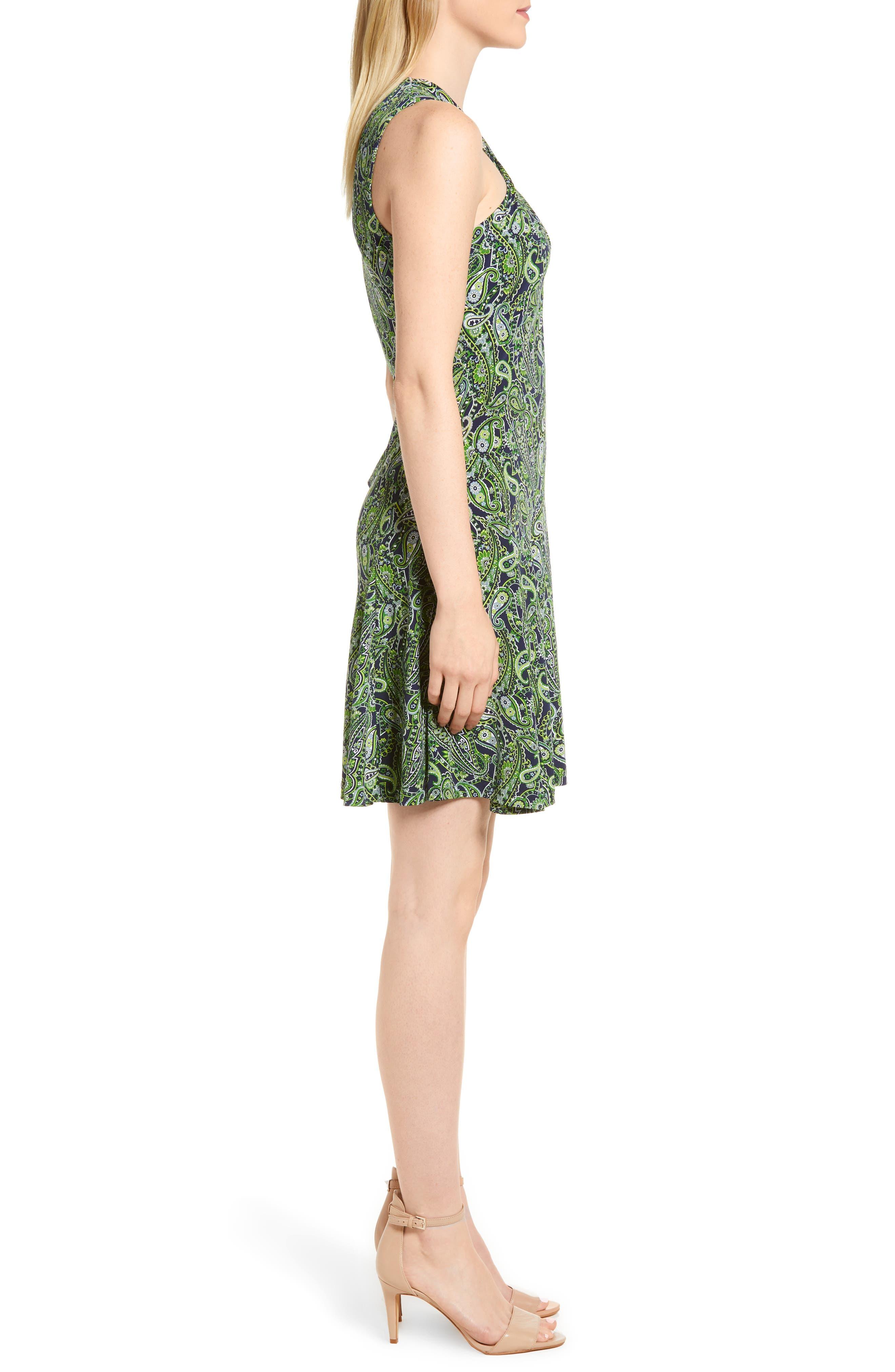 Alternate Image 3  - MICHAEL Michael Kors Paisley Paradise Fit & Flare Dress