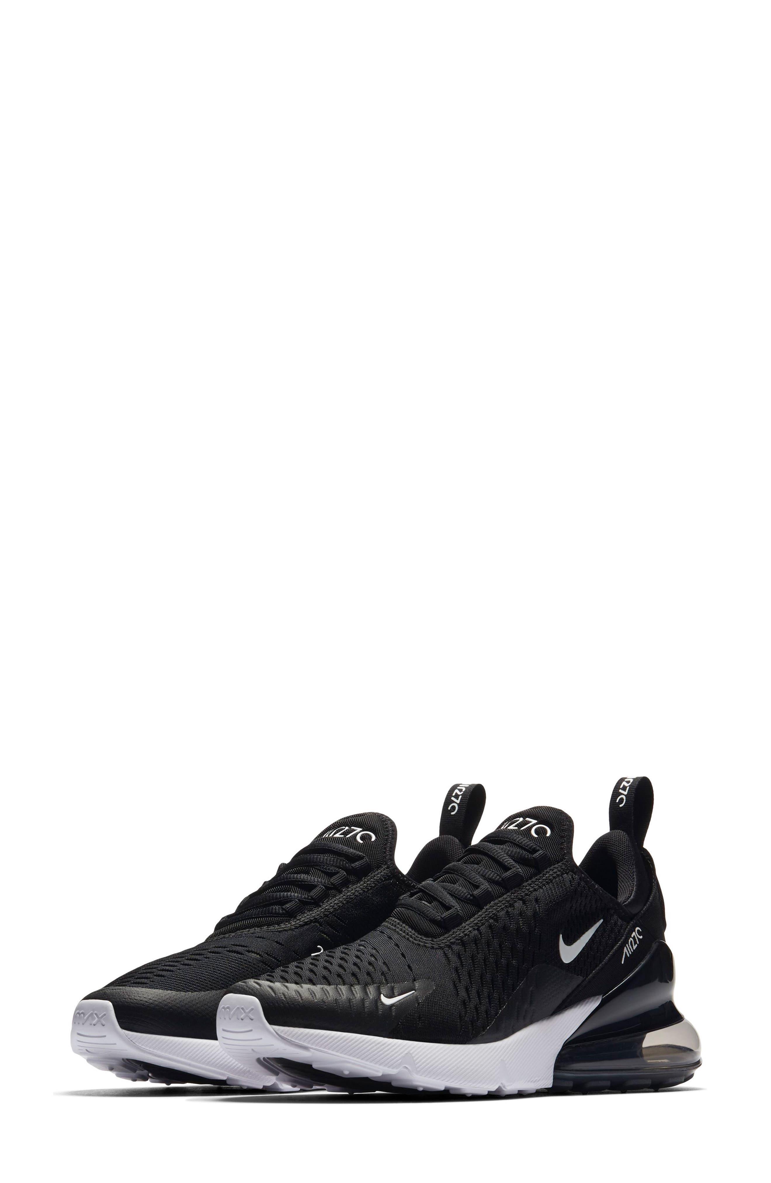 Air Max 270 Sneaker,                             Main thumbnail 1, color,                             Black/ Anthracite/ White