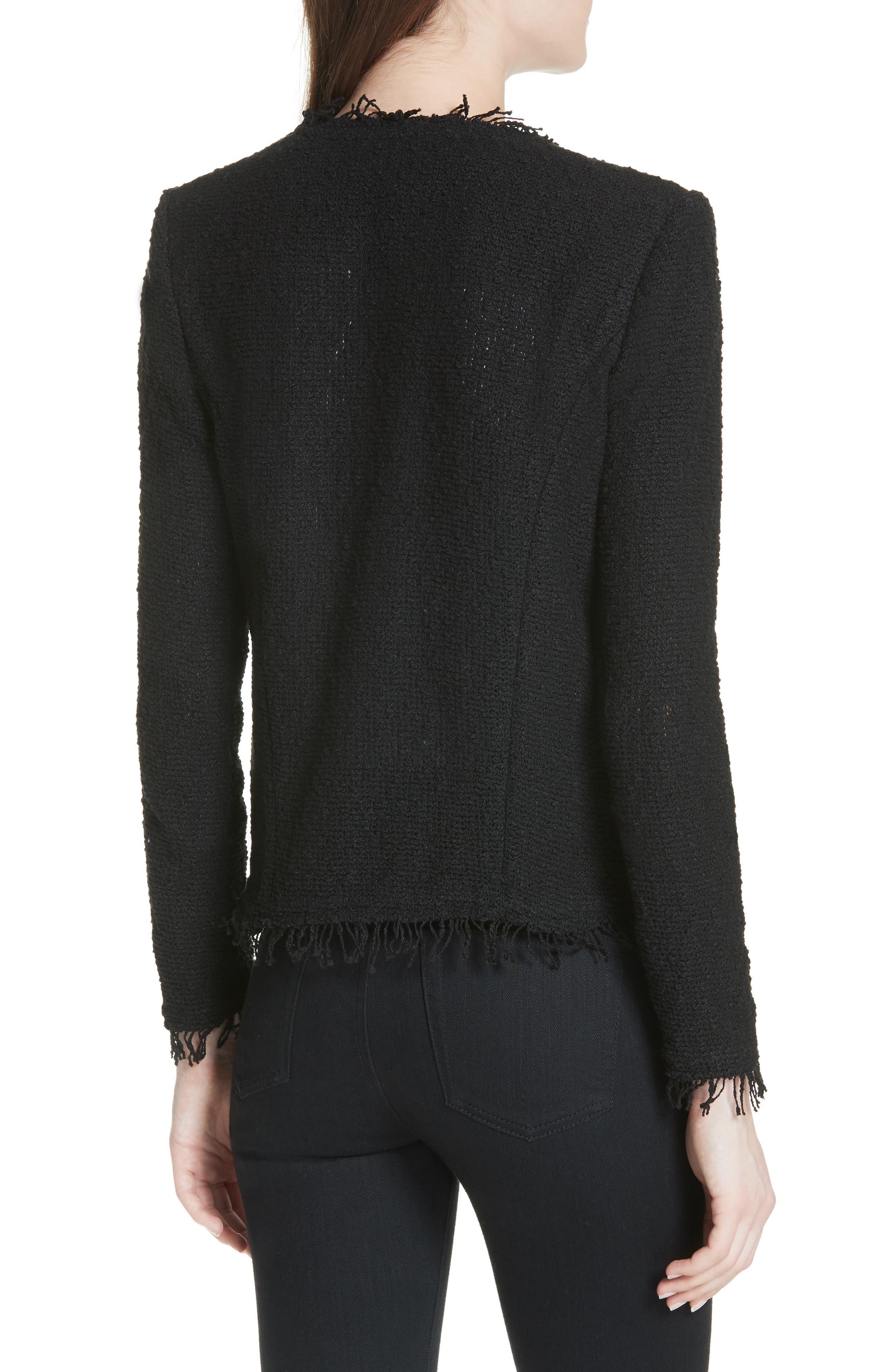 Shavani Tweed Jacket,                             Alternate thumbnail 2, color,                             Black