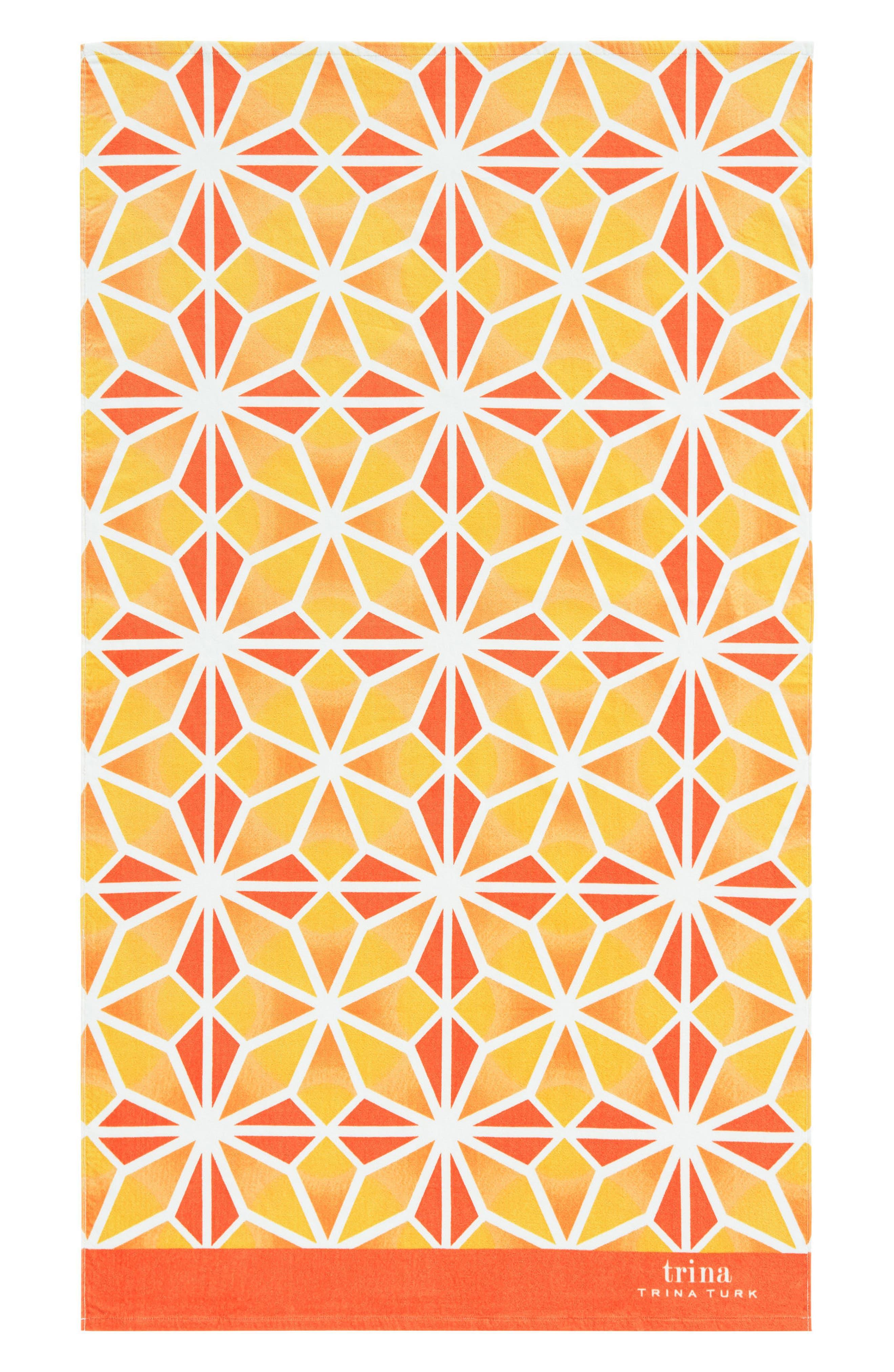Mojave Beach Towel,                             Main thumbnail 1, color,                             Orange