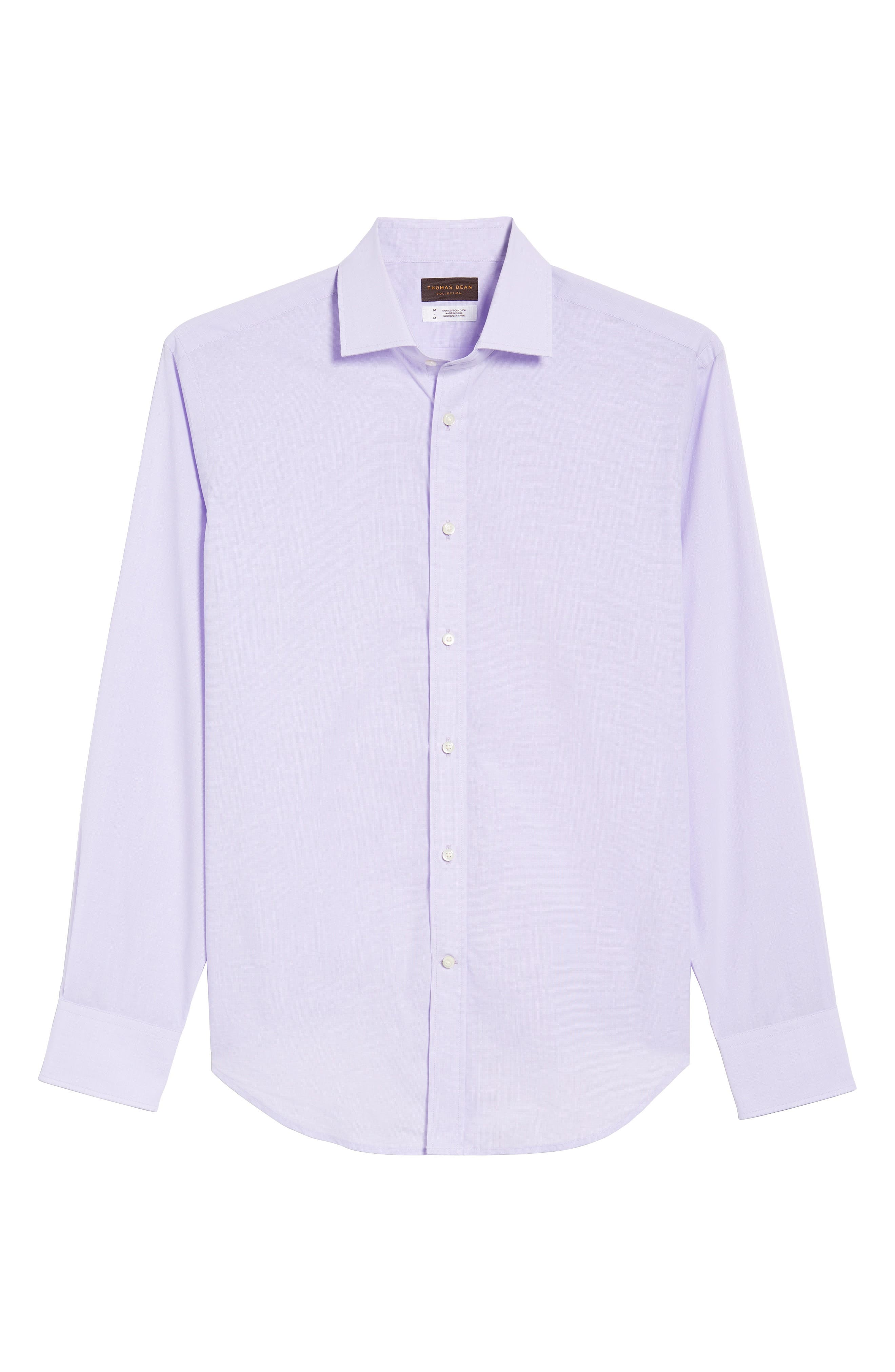 Large Check Sport Shirt,                             Alternate thumbnail 6, color,                             Purple