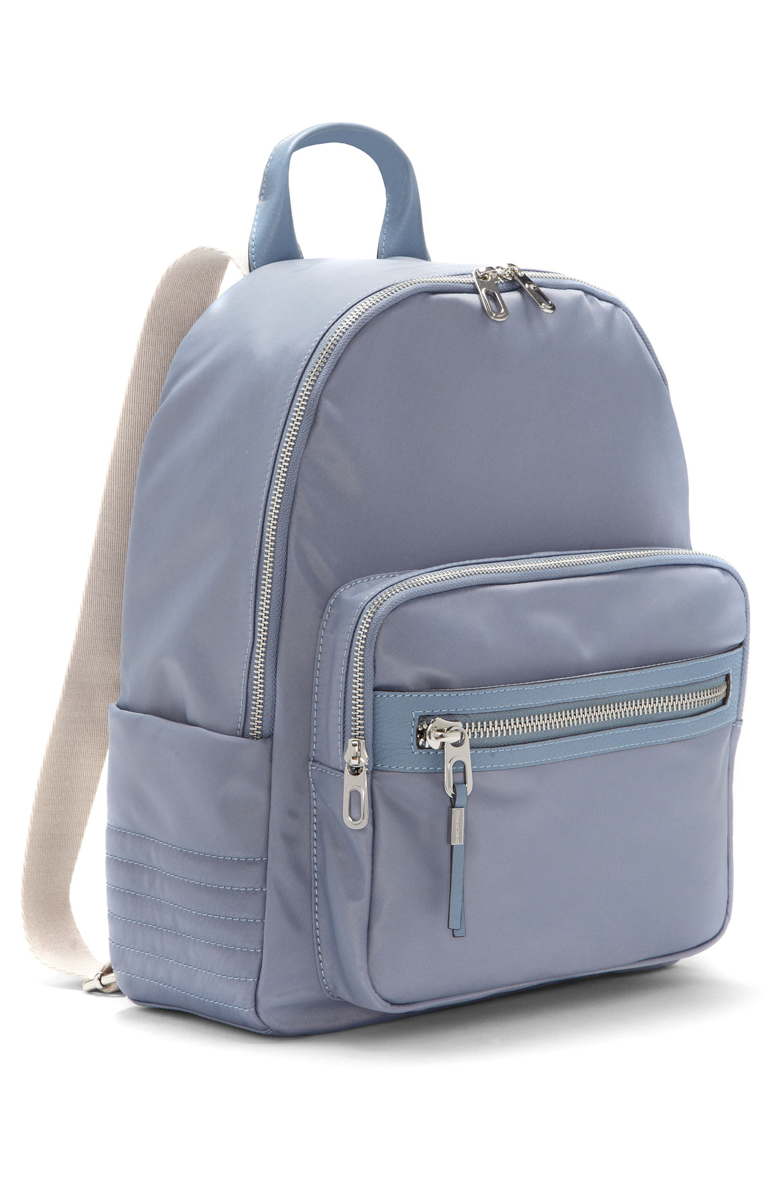 Action Nylon Backpack,                             Alternate thumbnail 4, color,                             Serenity Blue