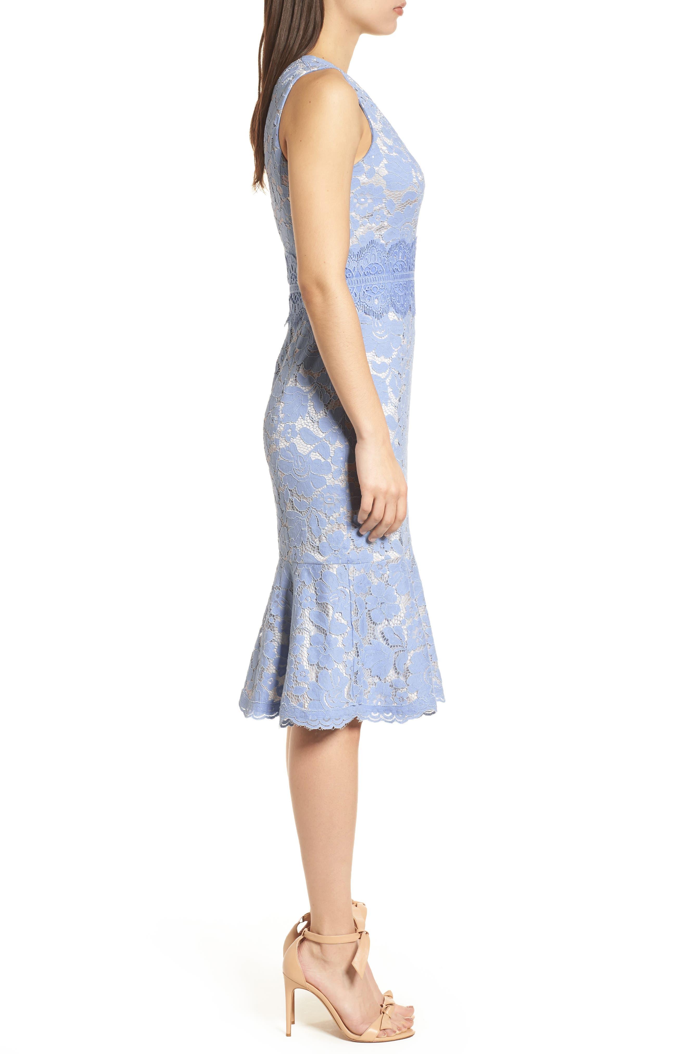 Alternate Image 3  - Vince Camuto Lace Sheath Dress (Regular & Petite)
