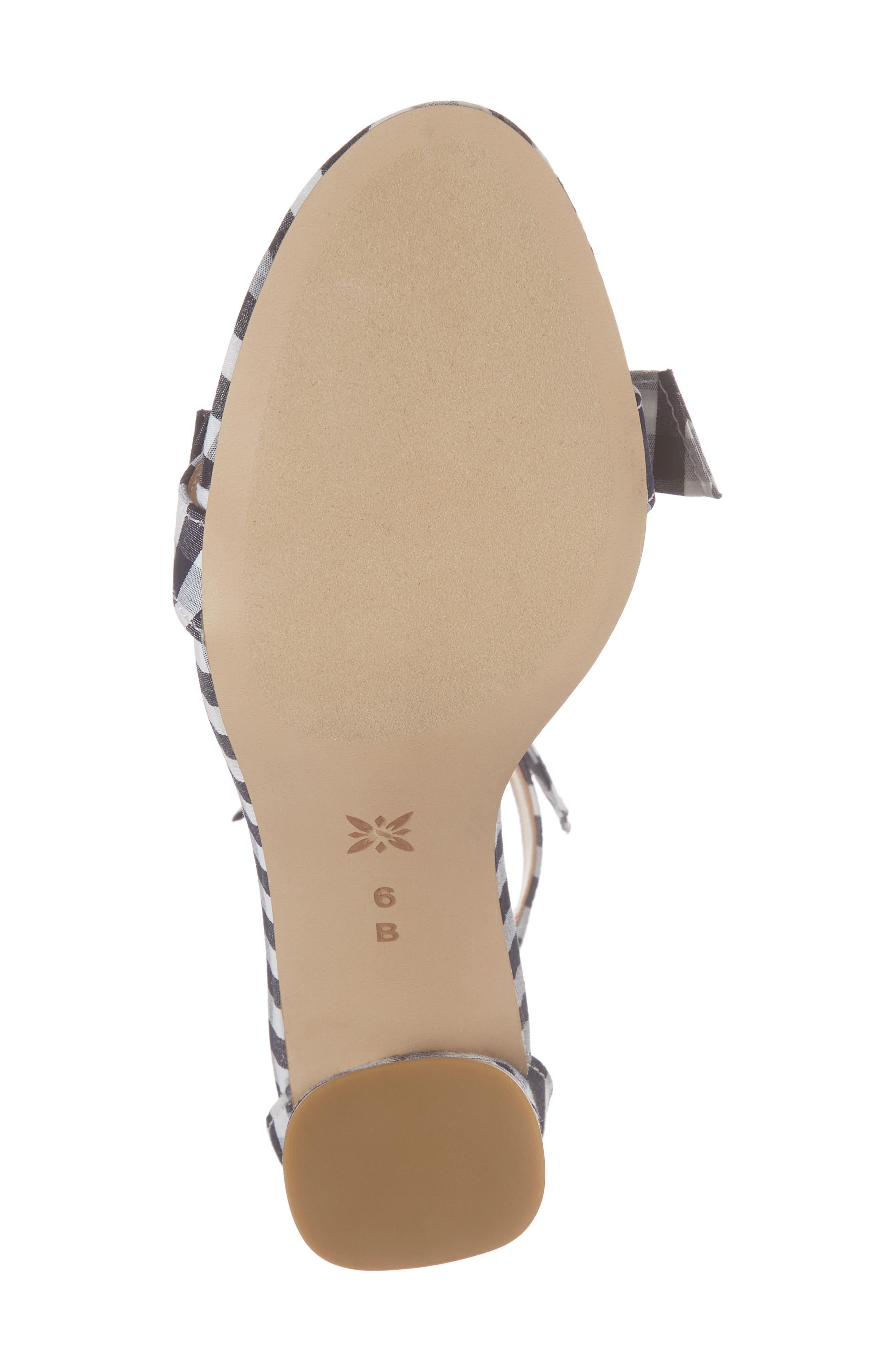 Faedra Ankle Strap Sandal,                             Alternate thumbnail 6, color,                             Dark Blue/ White