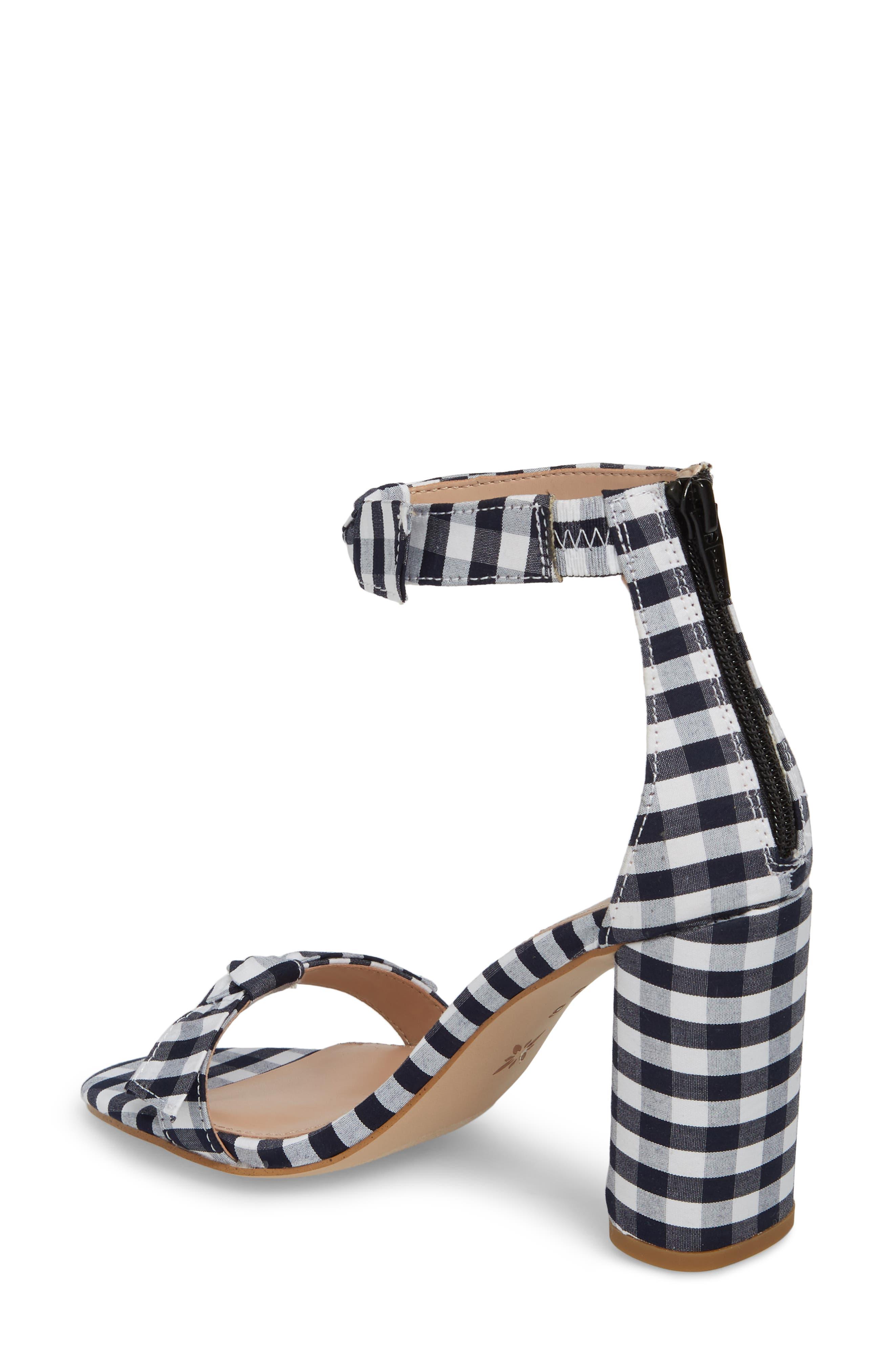 Faedra Ankle Strap Sandal,                             Alternate thumbnail 2, color,                             Dark Blue/ White