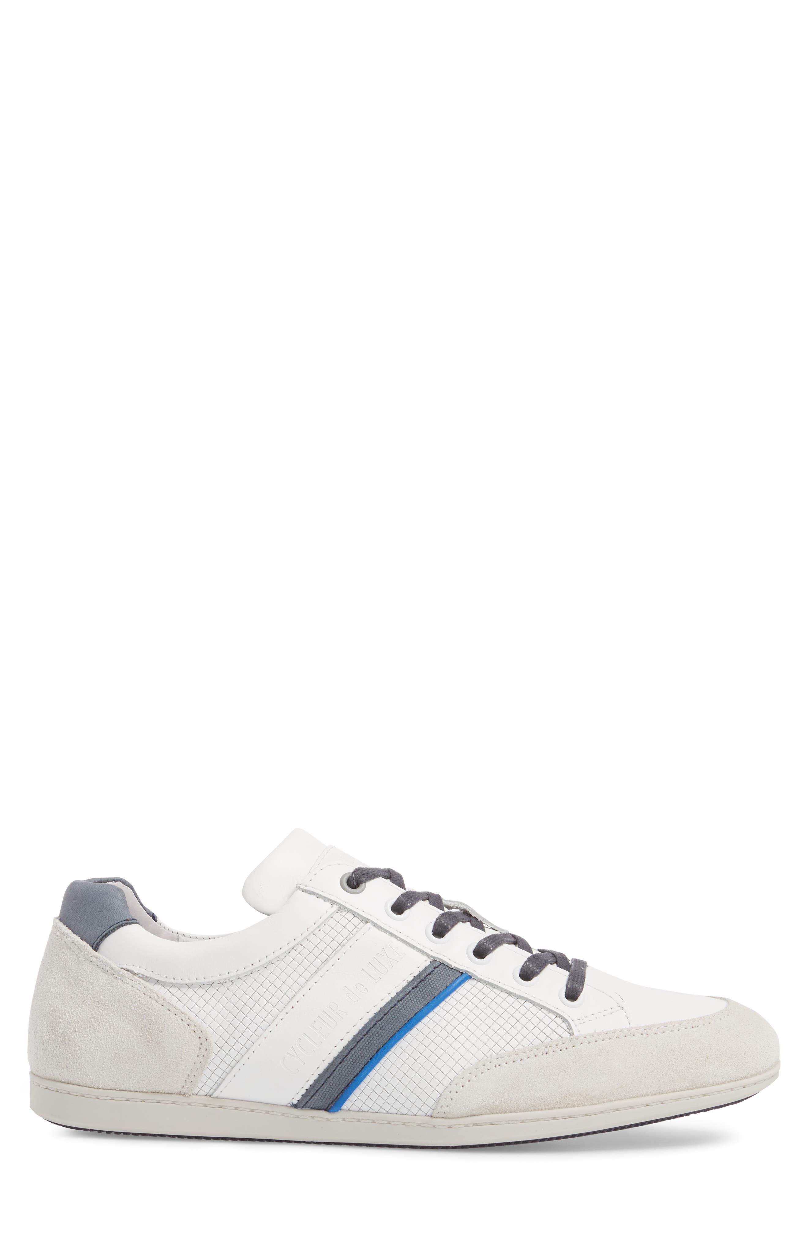 Bahamas Low Top Sneaker,                             Alternate thumbnail 3, color,                             Off White/ Navy Leather