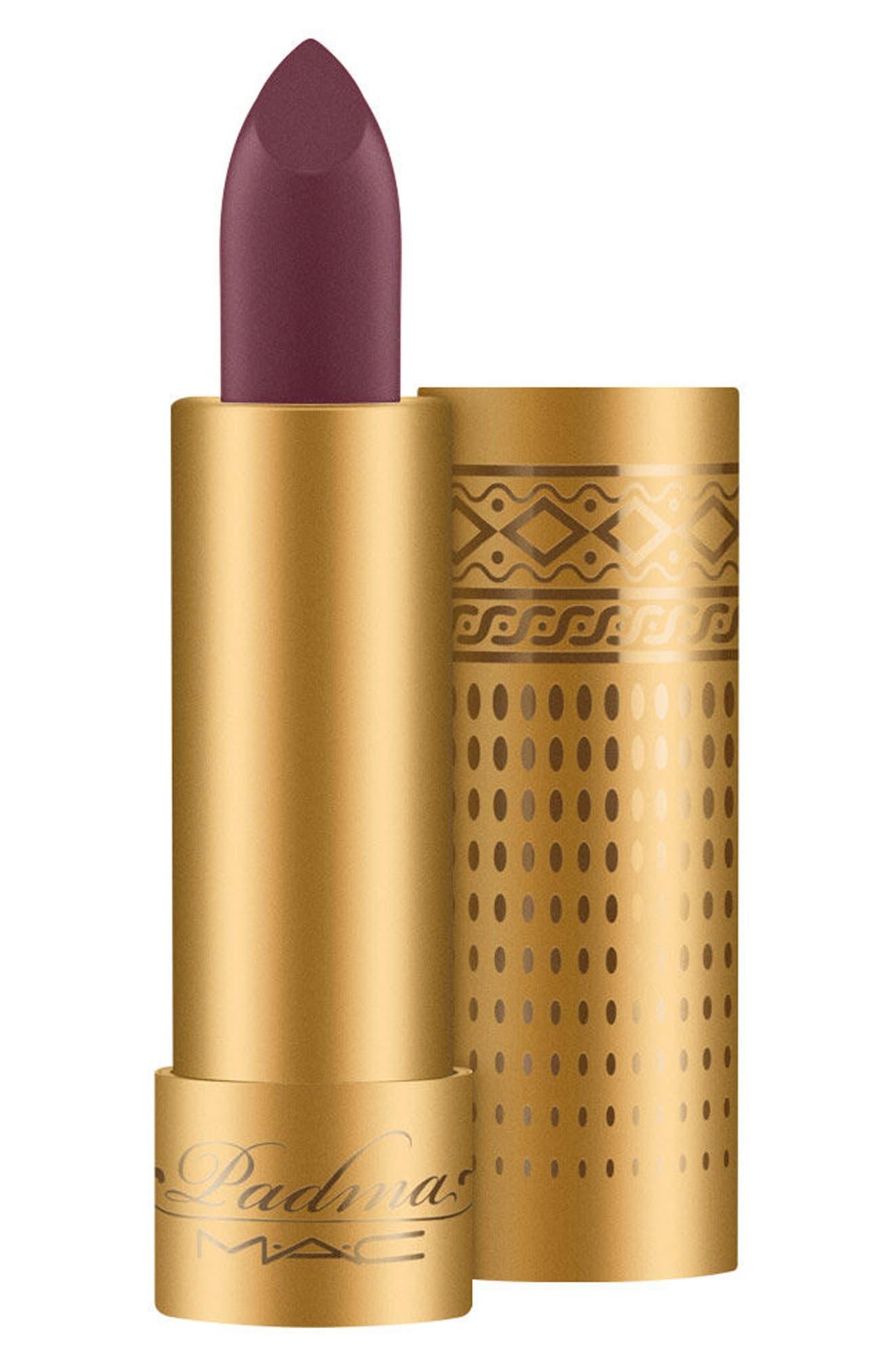 MAC Padma Lakshmi Lipstick,                             Main thumbnail 1, color,                             Sumac