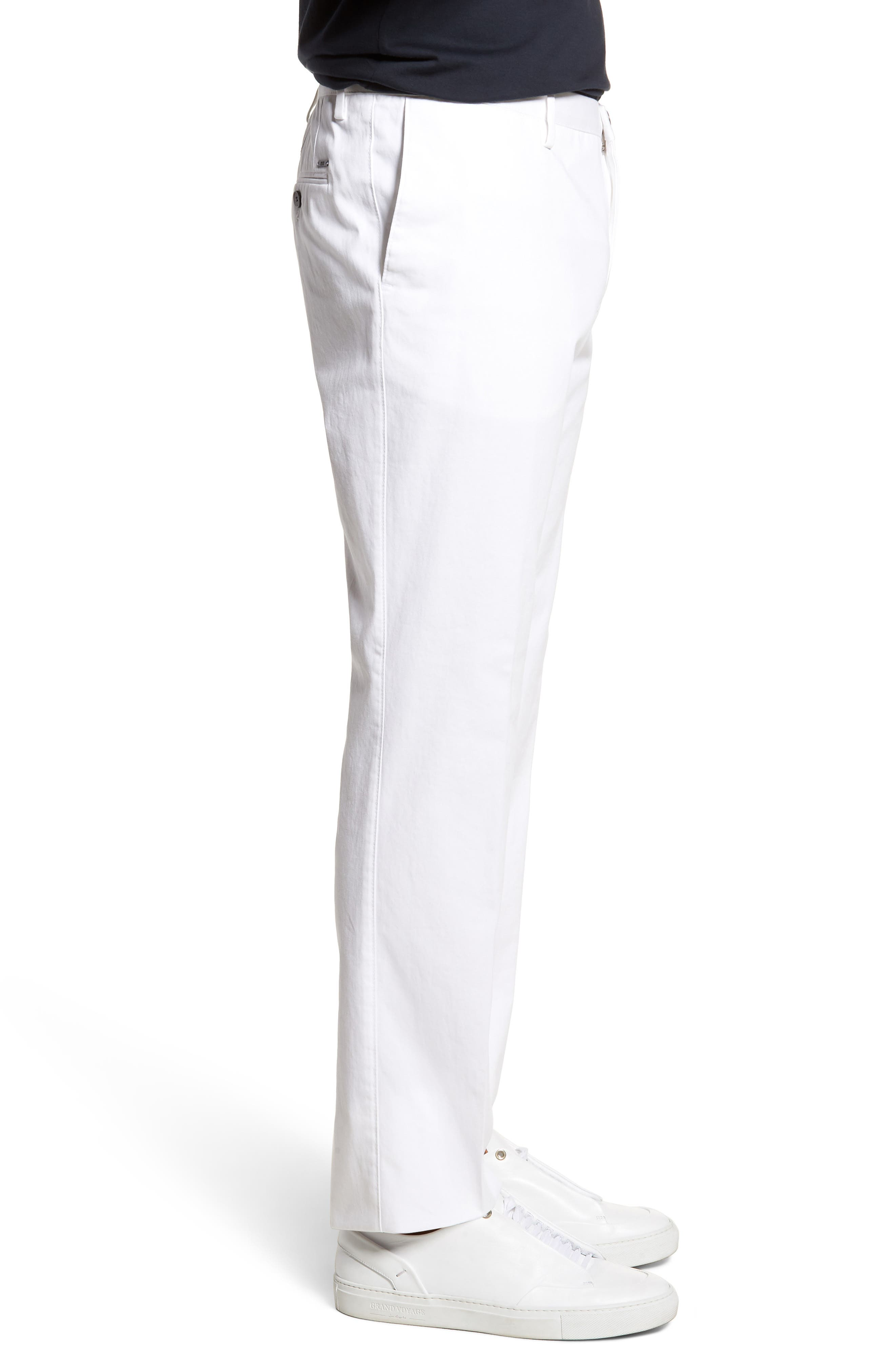 Alternate Image 3  - BOSS Stanino-W Flat Front Stretch Cotton Trousers