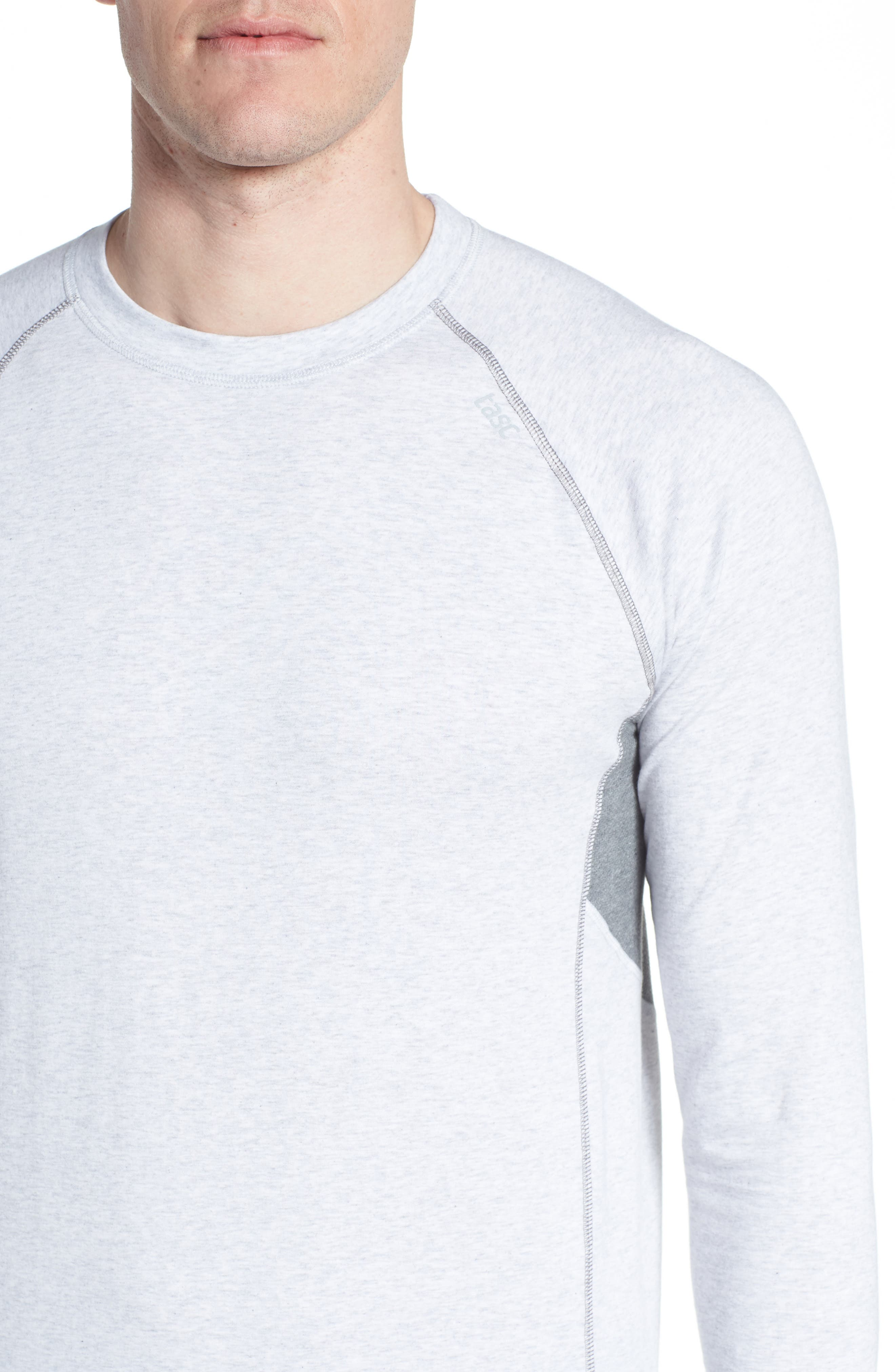 Charge II Long Sleeve Shirt,                             Alternate thumbnail 4, color,                             Light Heather Gray