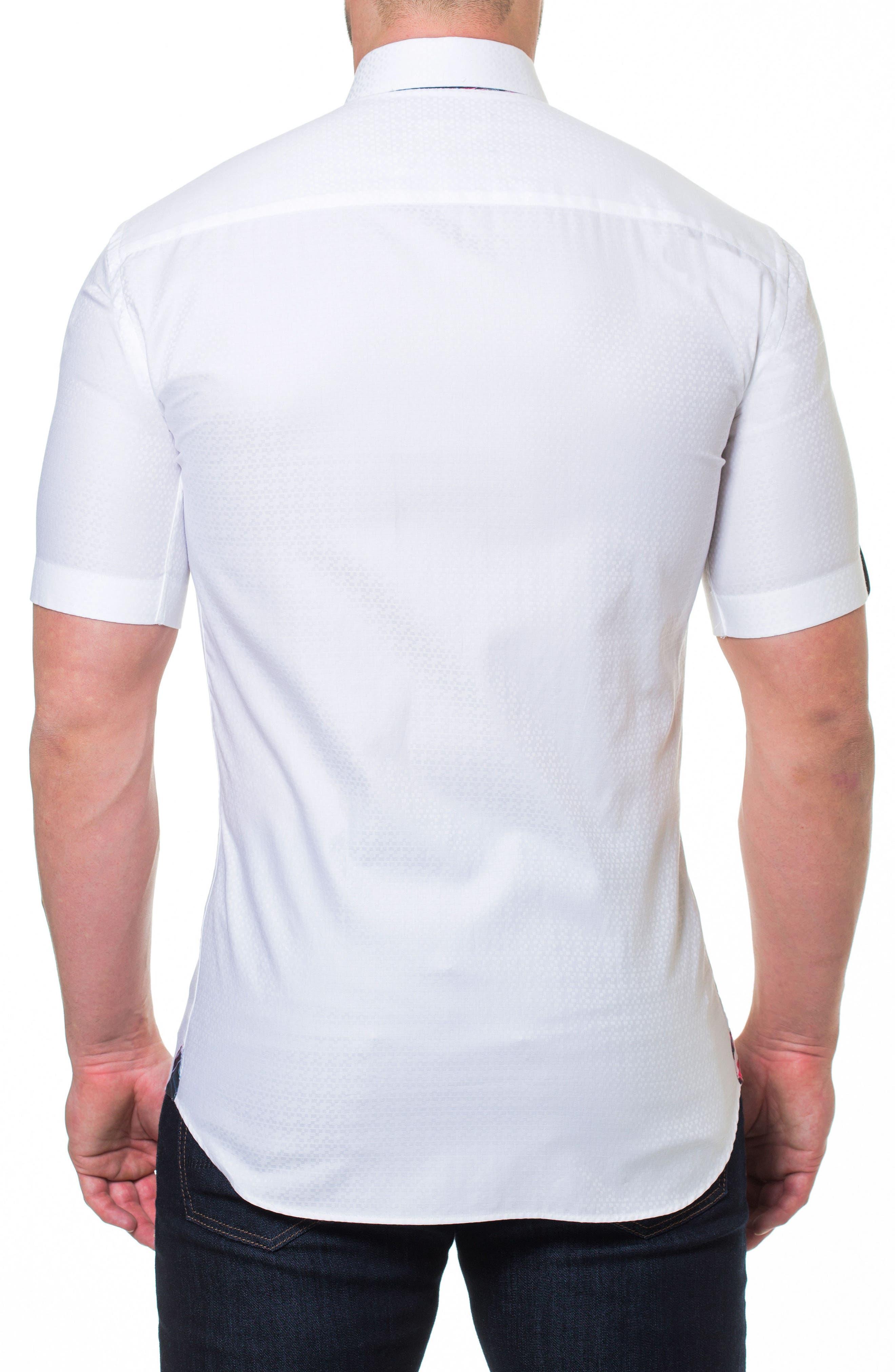 Fresh Block Sport Shirt,                             Alternate thumbnail 2, color,                             White