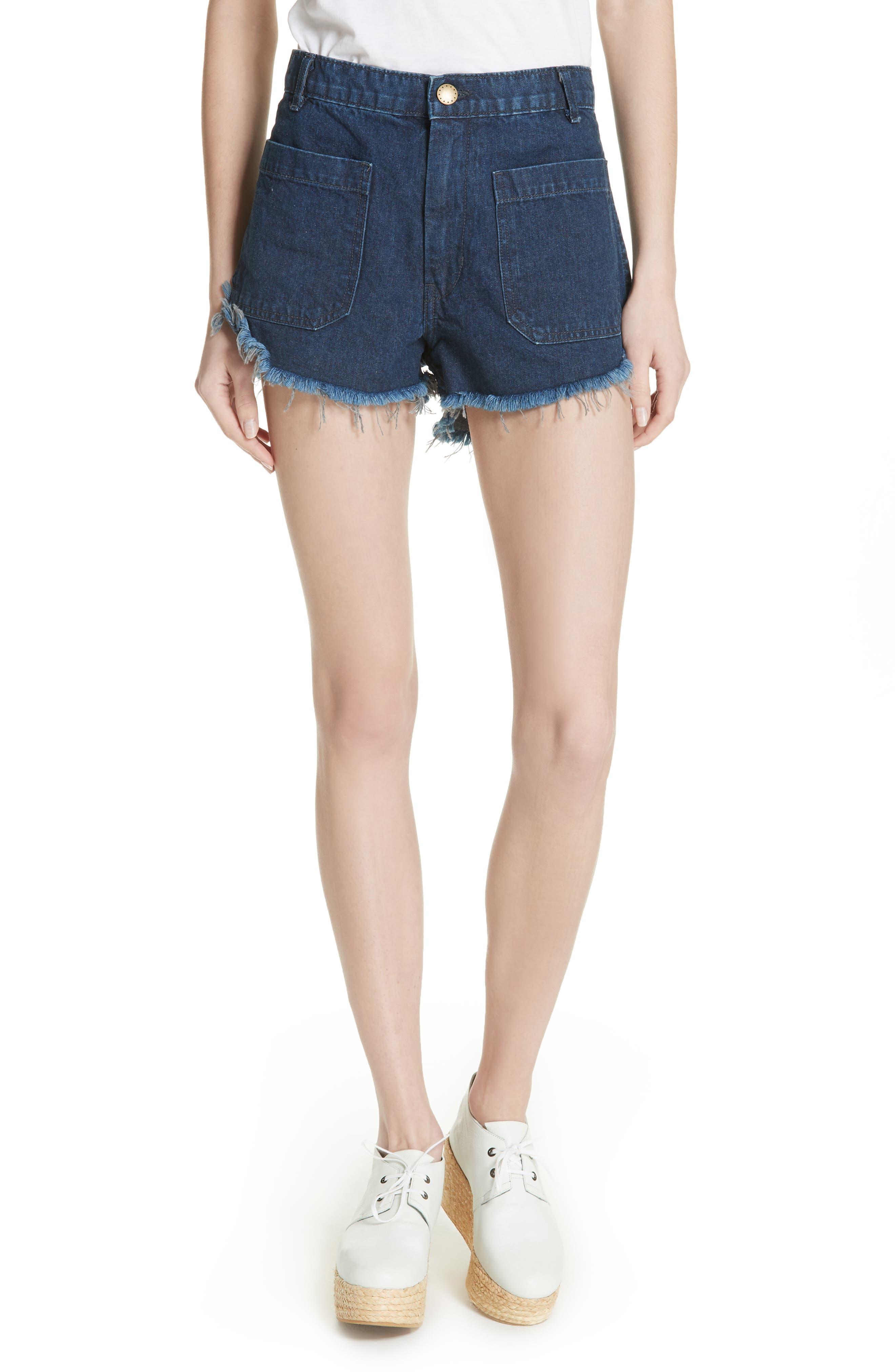 Sailor Denim Shorts,                             Main thumbnail 1, color,                             Ultra Marine Wash
