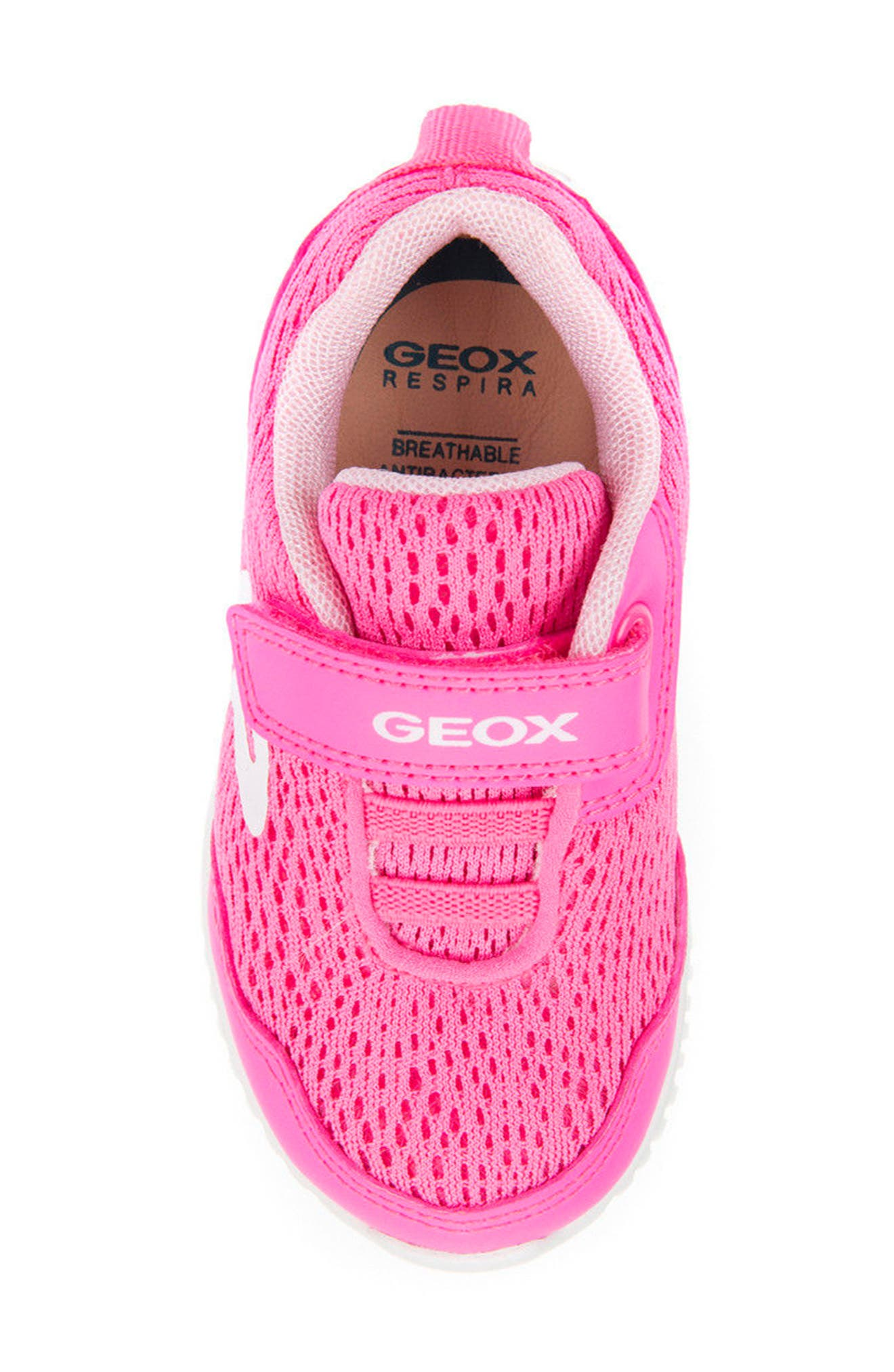 Waviness Sneaker,                             Alternate thumbnail 4, color,                             Fluorescent Fuchsia