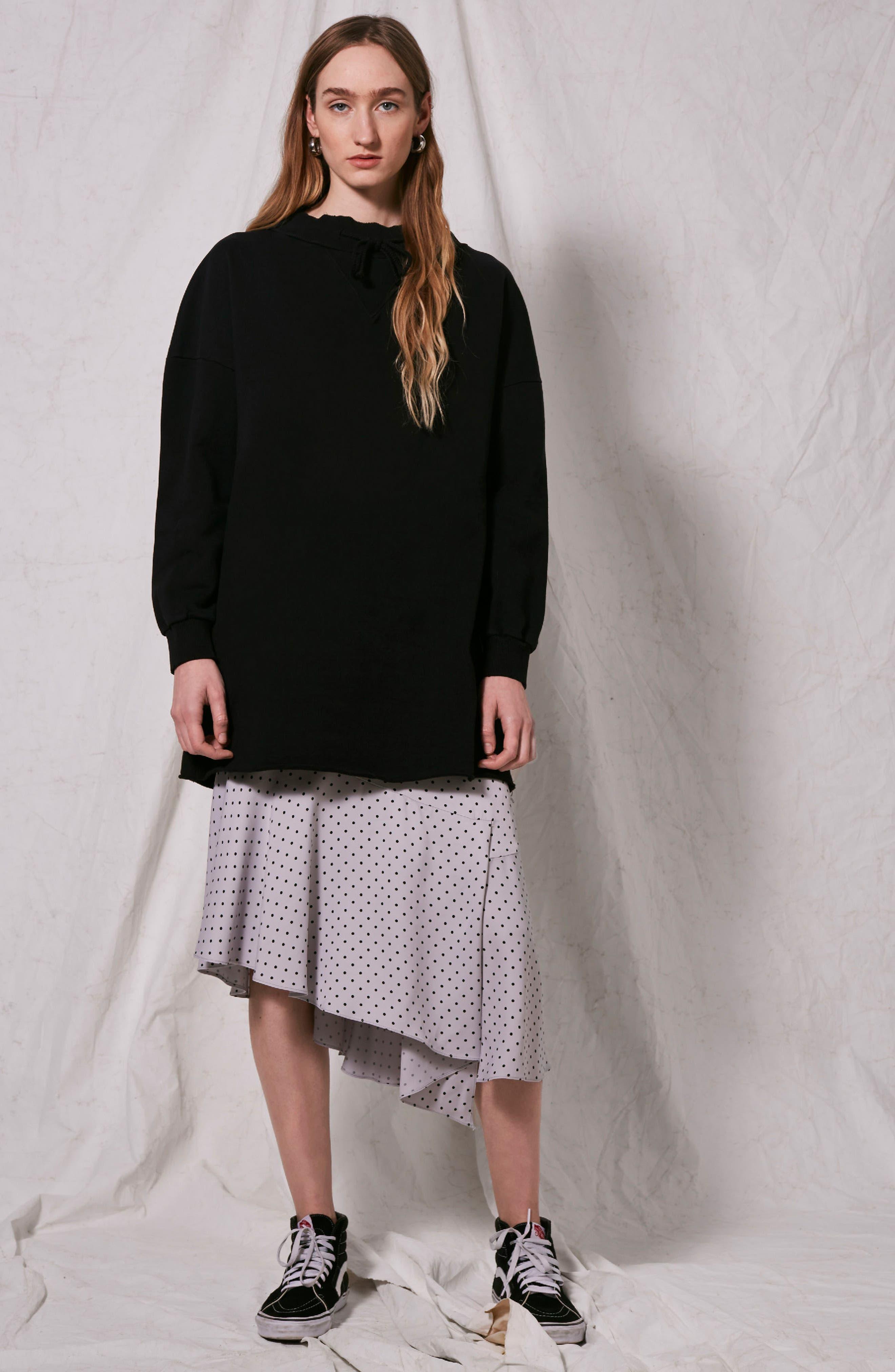 Alternate Image 2  - Topshop Boutique Drawstring Sweater Dress