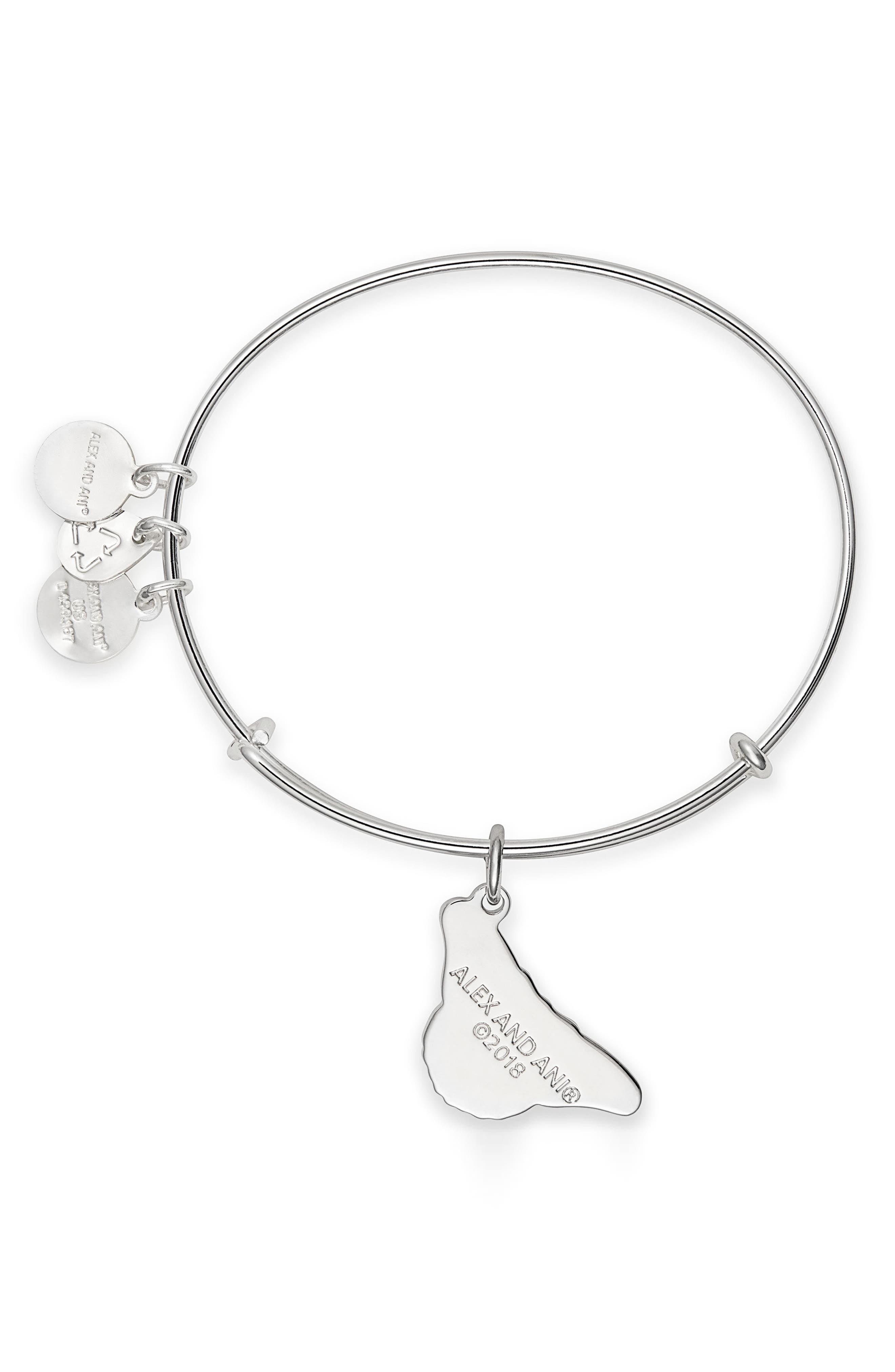 Charity by Design Monarch Butterfly Charm Bracelet,                             Alternate thumbnail 2, color,                             Silver