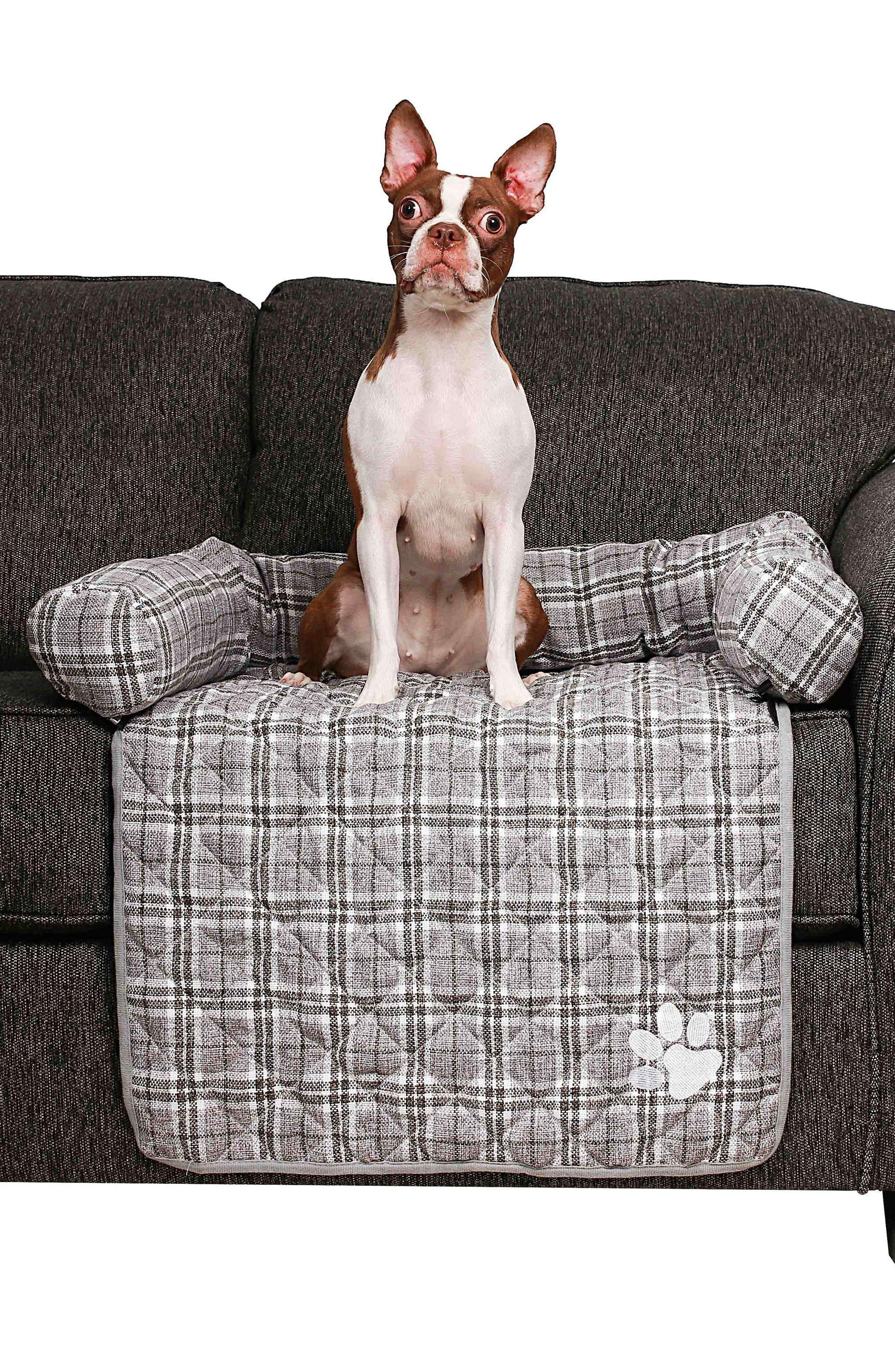 Harlee Reversible Pet Chair Cover,                             Alternate thumbnail 3, color,                             Grey