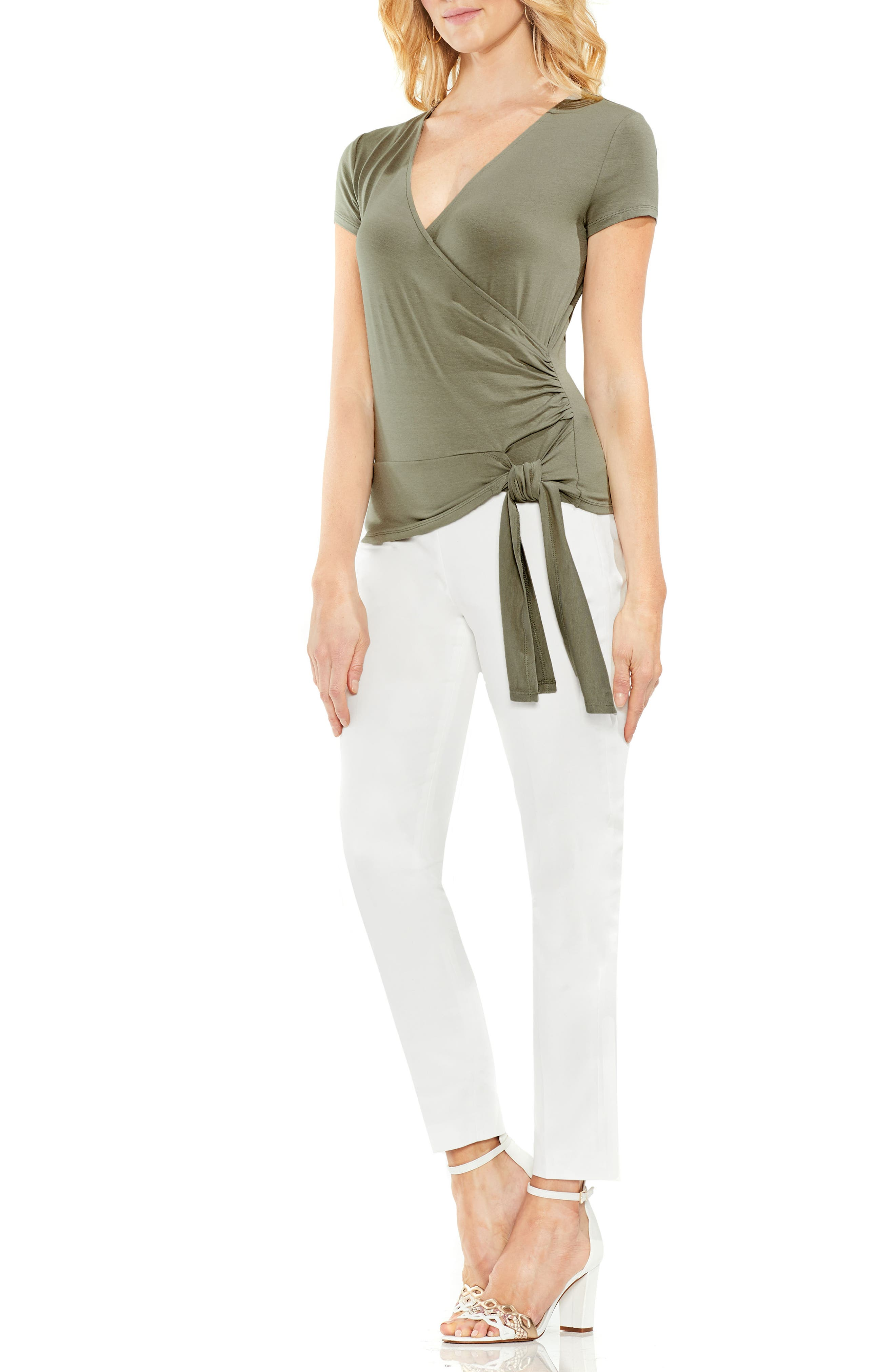 Alternate Image 3  - Vince Camuto Side Tie Faux Wrap Top