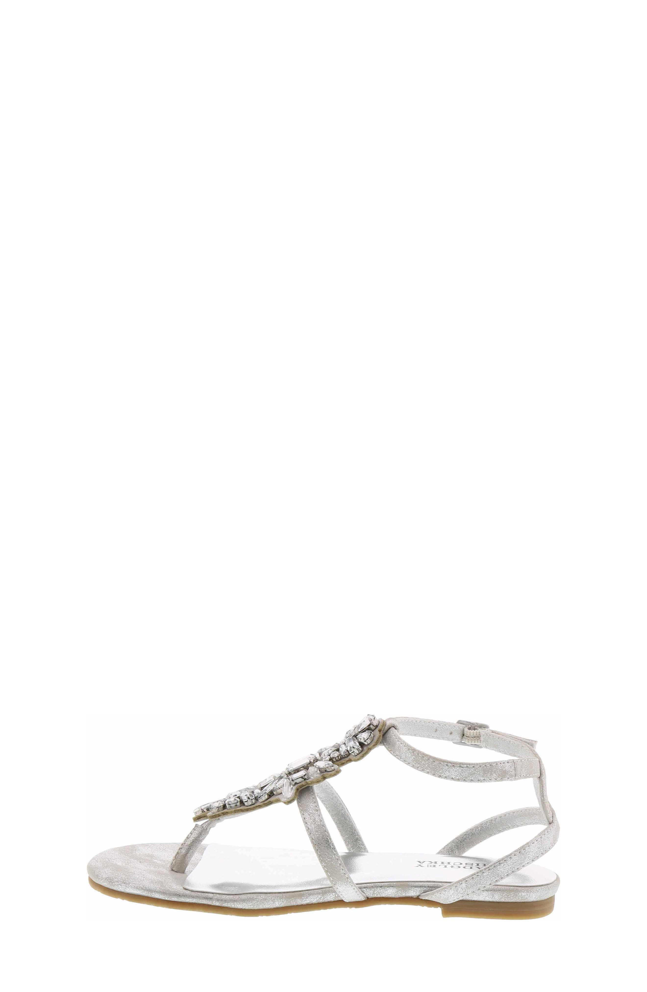 Cara Barstow Embellished Sandal,                             Alternate thumbnail 3, color,                             Light Silver