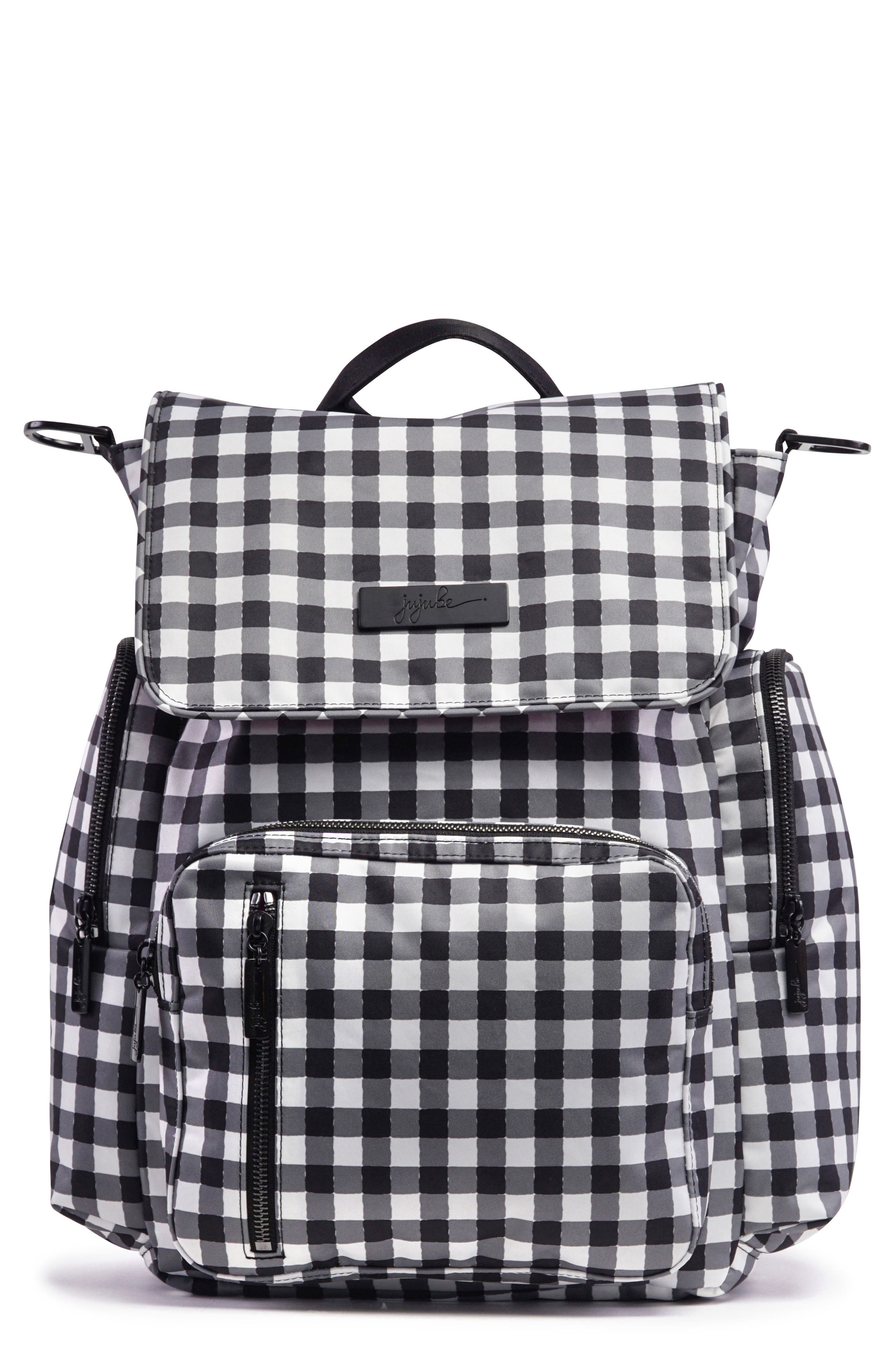 Onyx Be Sporty Diaper Backpack,                             Main thumbnail 1, color,                             Gingham Style