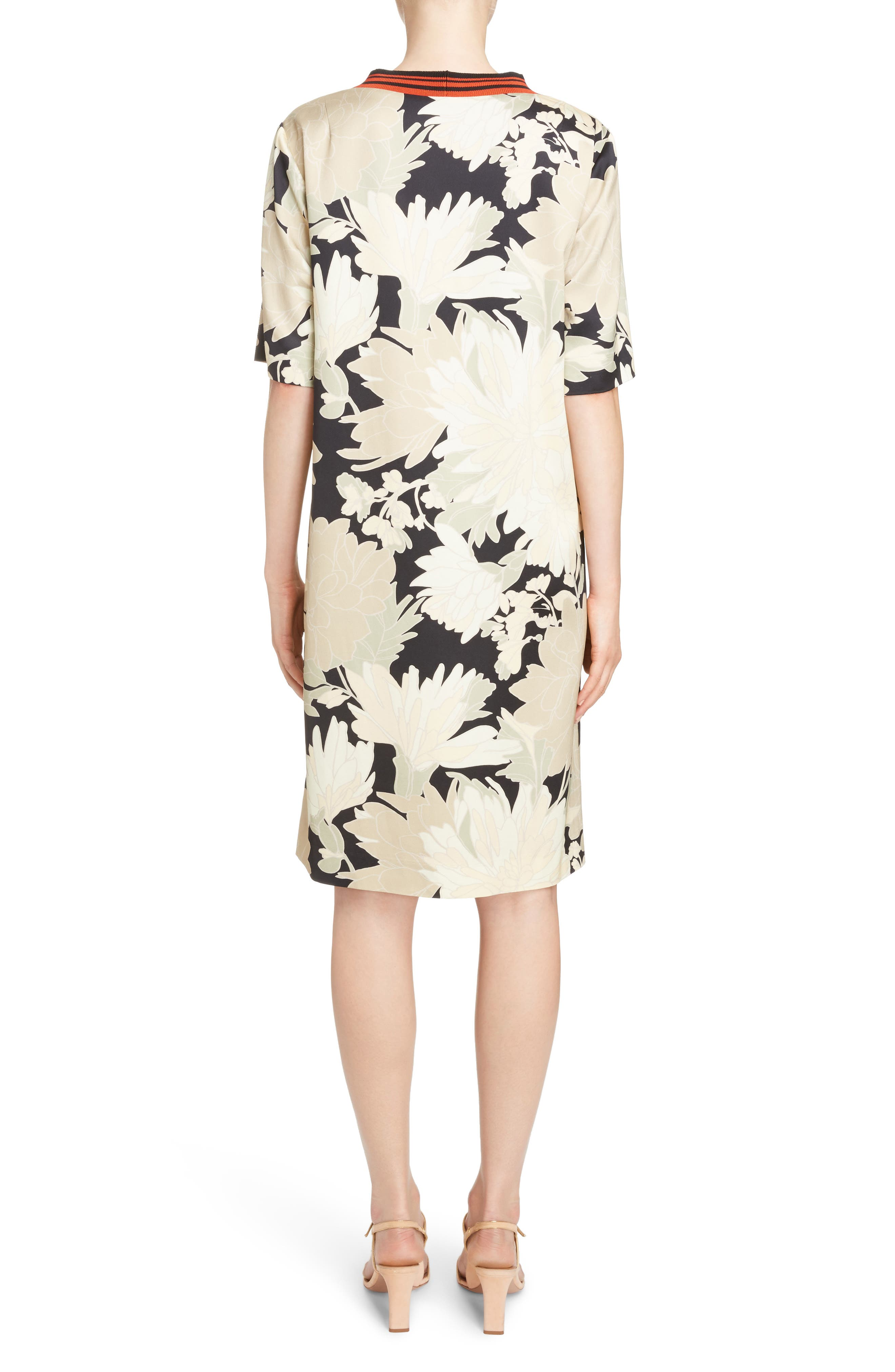 Alternate Image 2  - Dries Van Noten Knit Trim Floral Dress