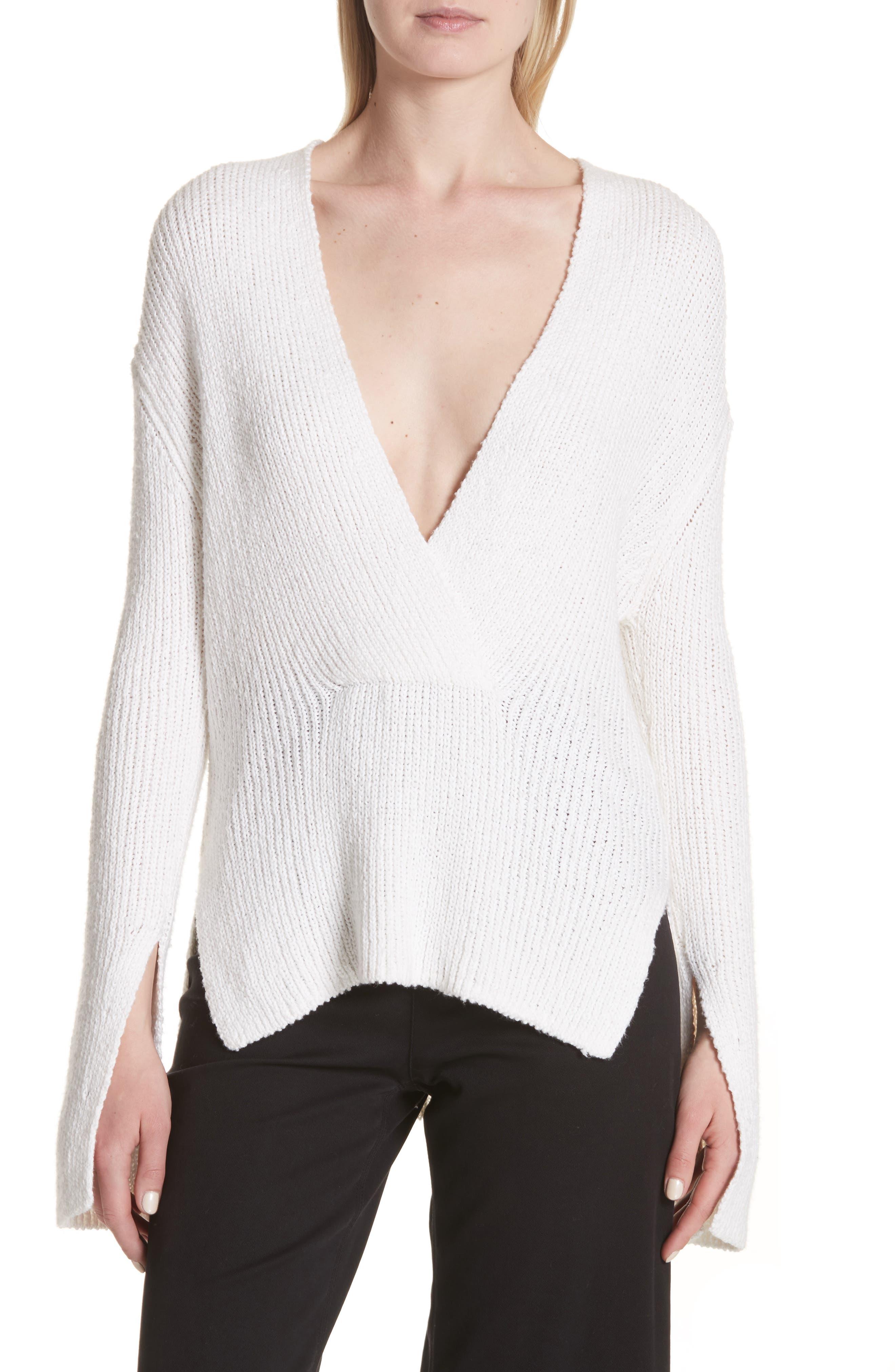 Nick Cotton Sweater,                             Main thumbnail 1, color,                             White