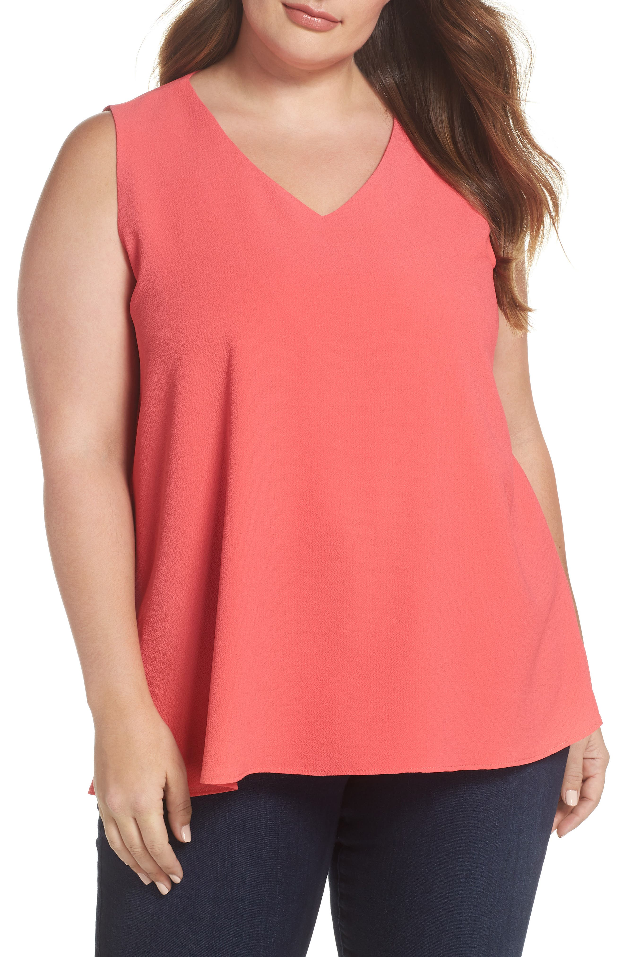 Gibson x Living in Yellow Reagan V-Neck Drop Back Top (Plus Size) (Nordstrom Exclusive)