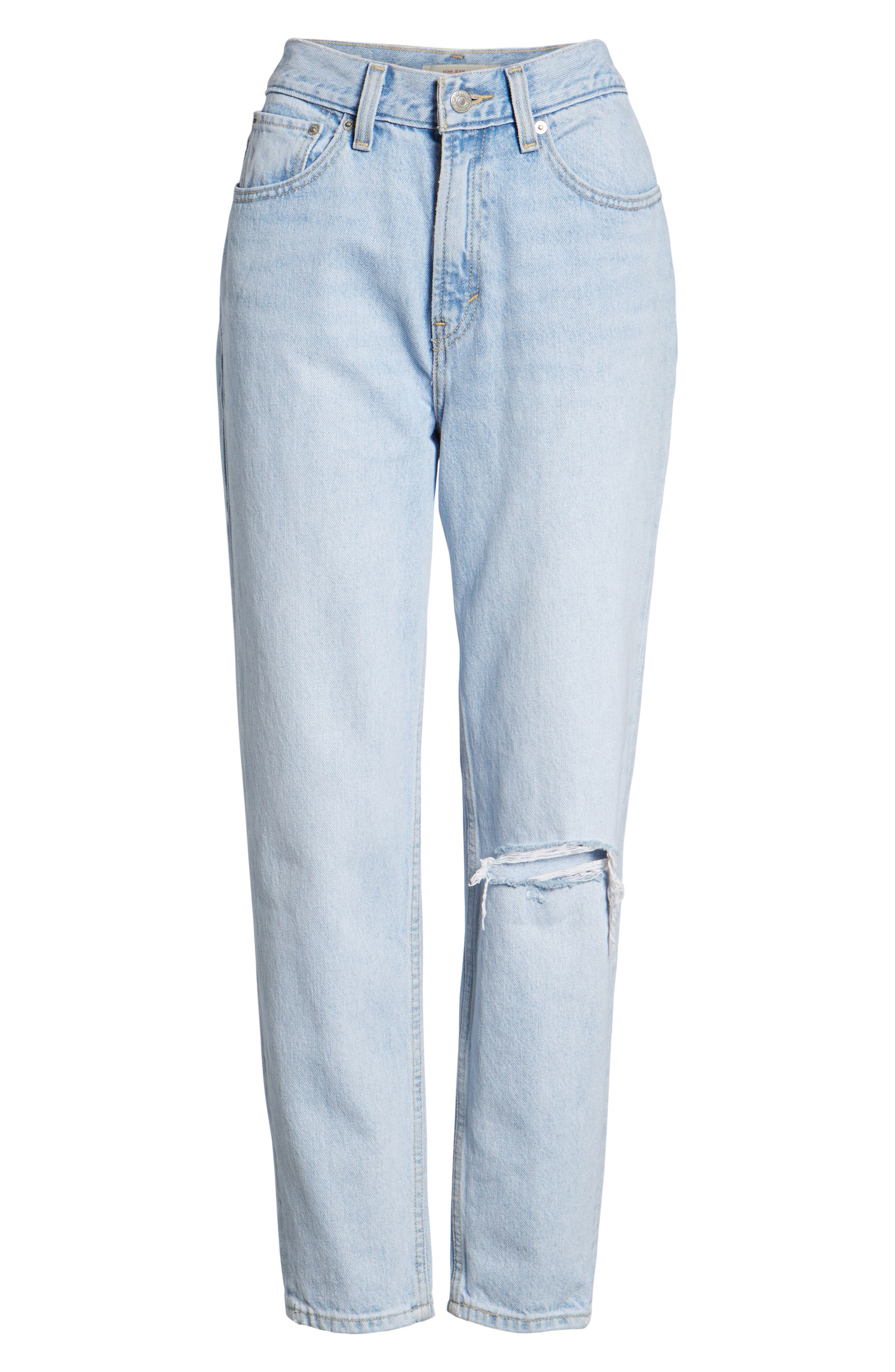 Mom High Waist Jeans,                             Alternate thumbnail 6, color,                             Donna Martin