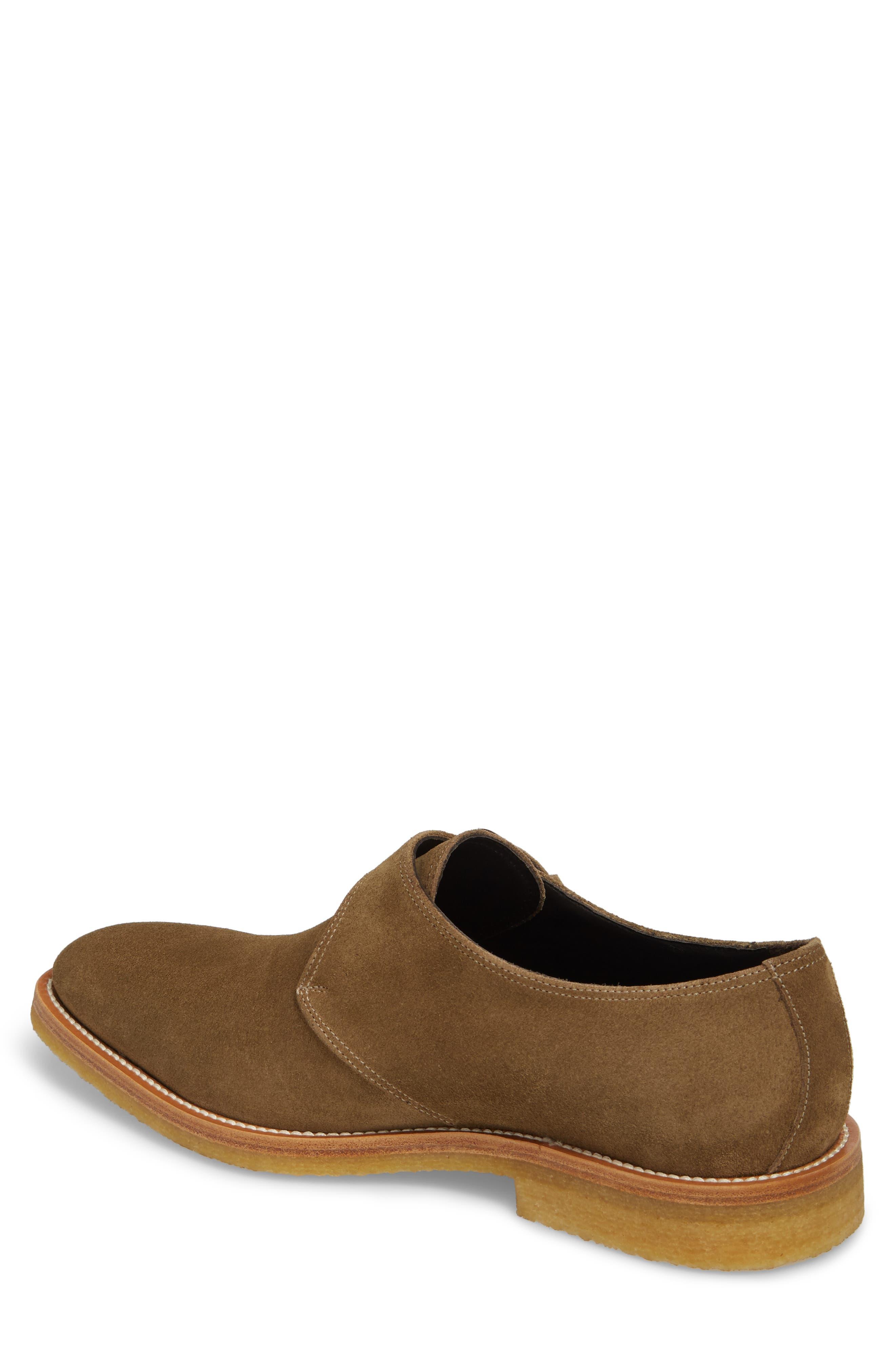 Baldwin Plain Toe Monk Shoe,                             Alternate thumbnail 2, color,                             Taupe Suede