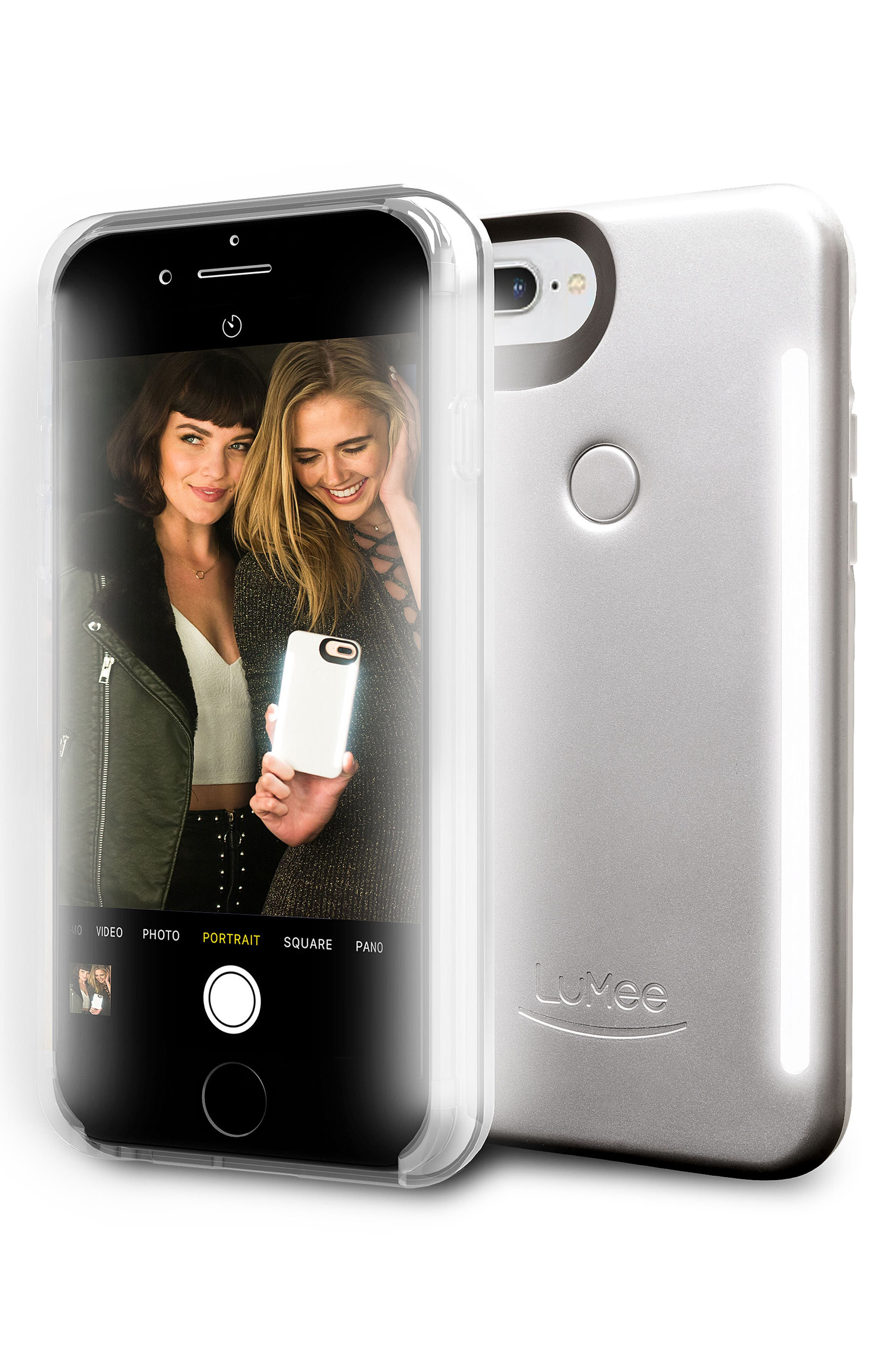 Alternate Image 1 Selected - LuMee Duo LED Lighted iPhone 6/6s/7/8 & 6/6s/7/8 Plus Case