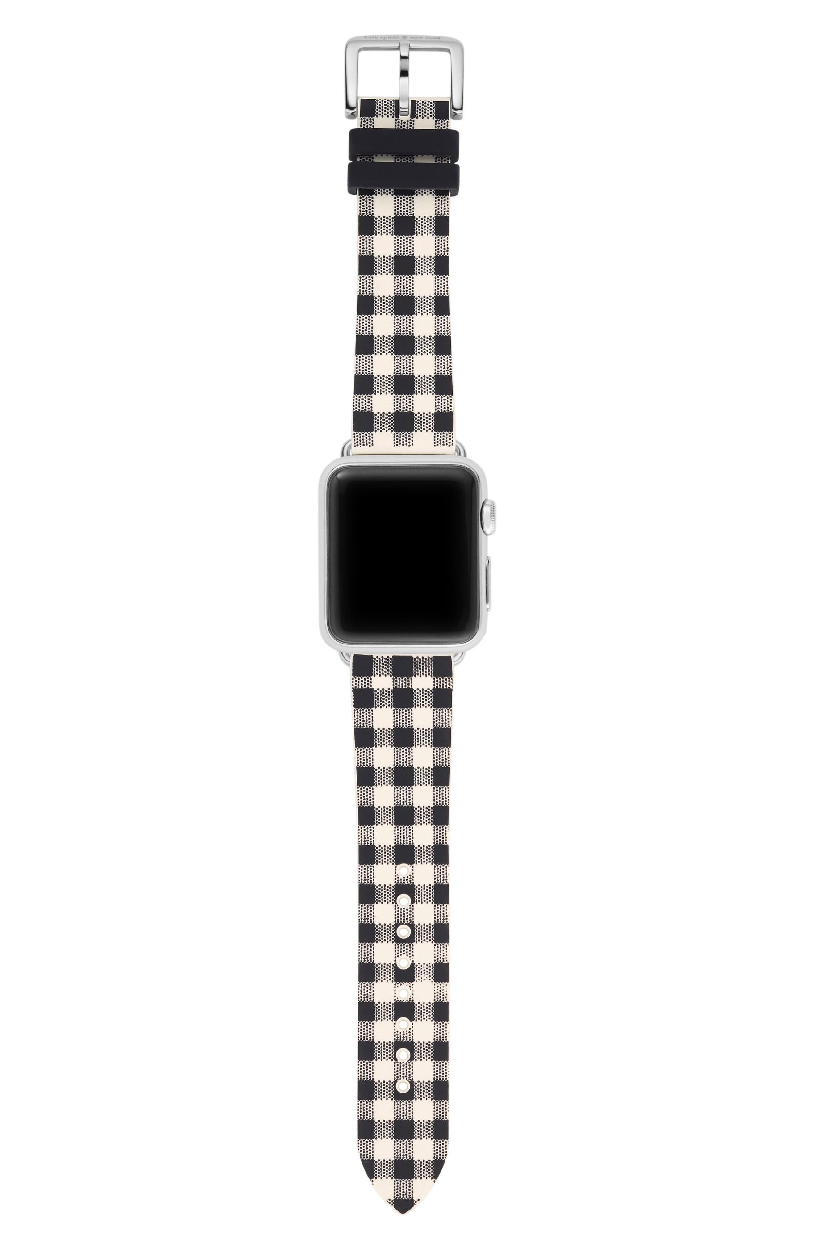 Apple Watch strap, 25mm,                             Alternate thumbnail 3, color,                             Black