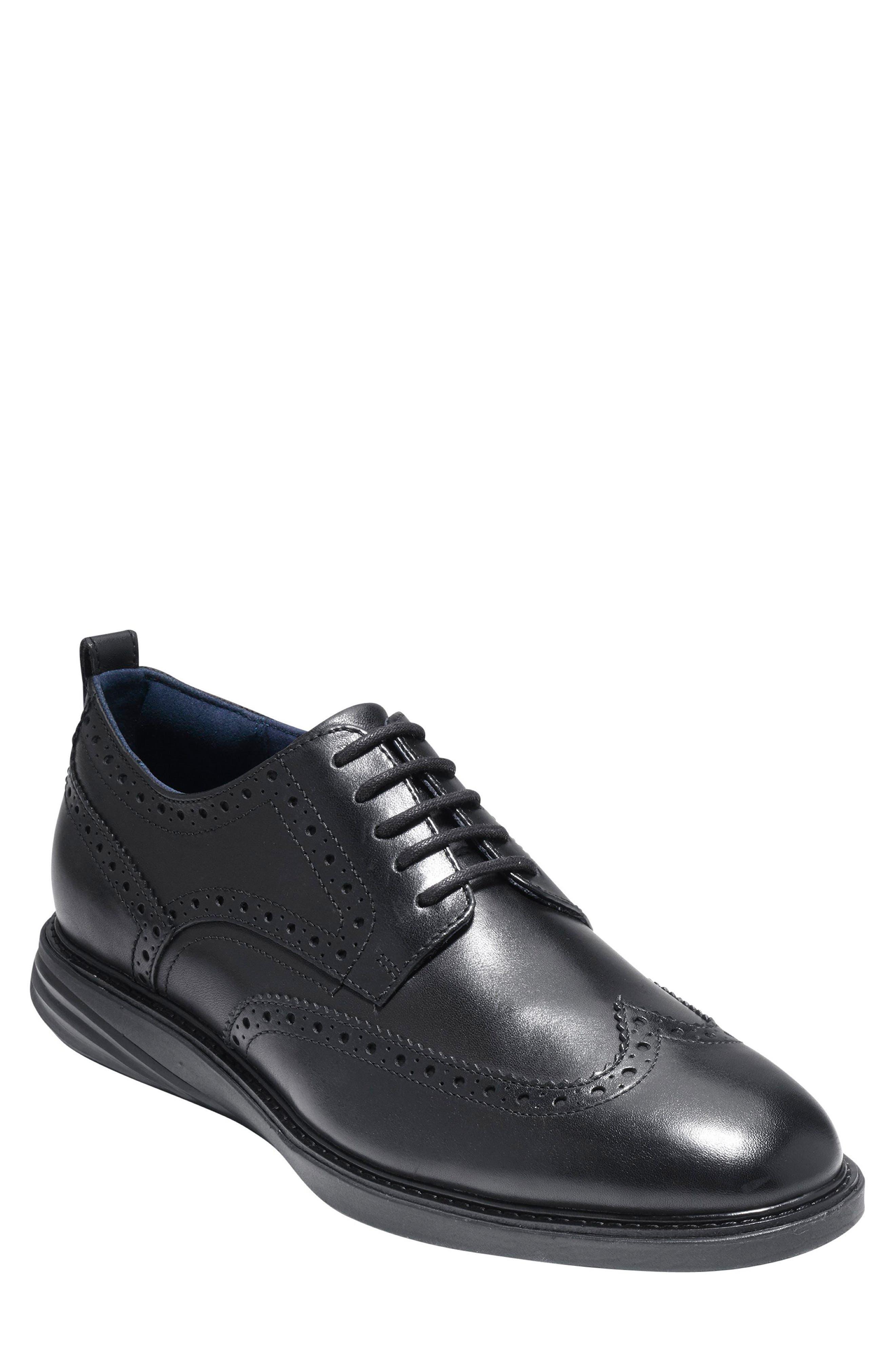 GrandEvølution Wingtip Derby,                         Main,                         color, Black Leather