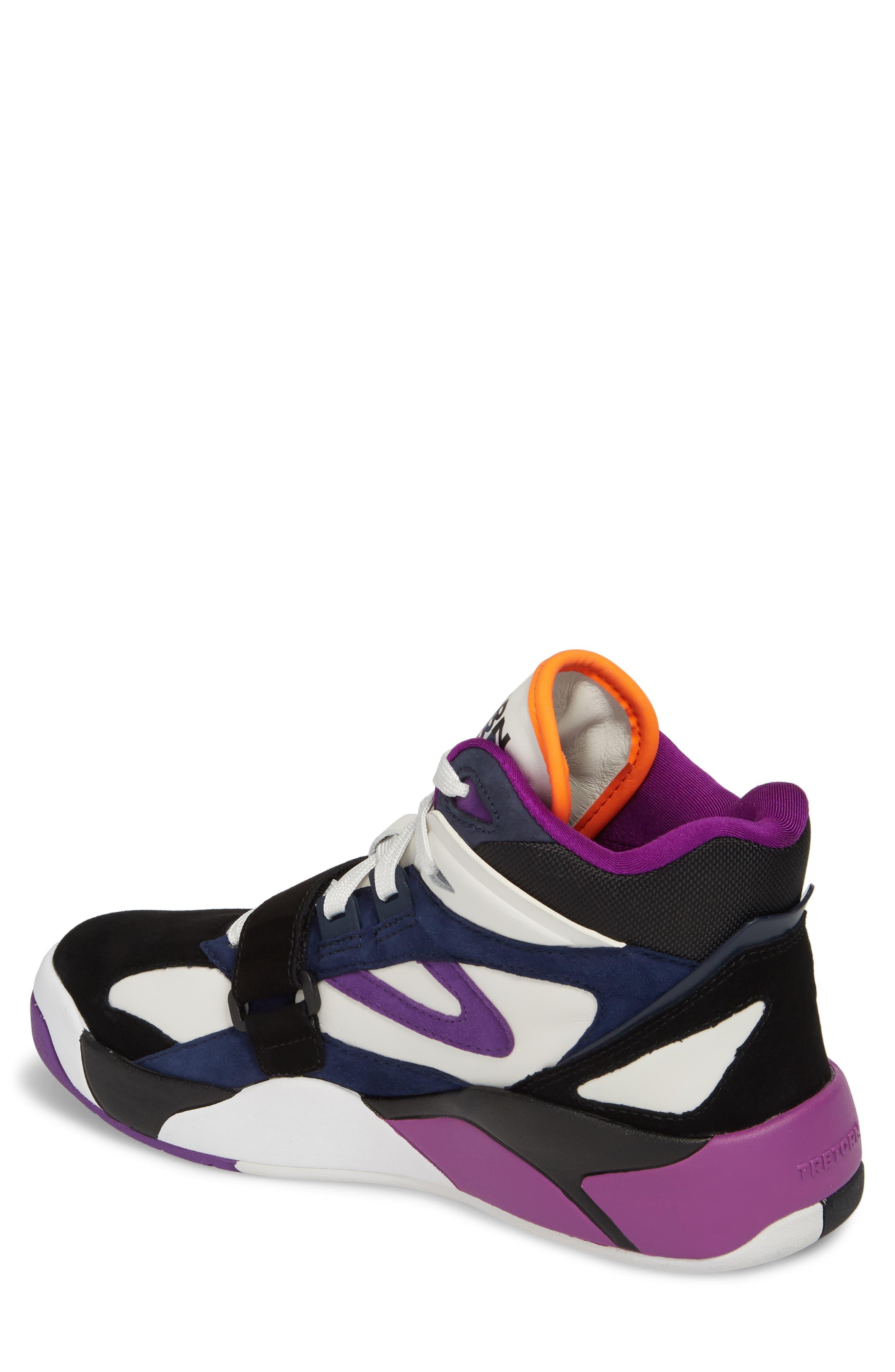 Andre 3000 Bostad 2 High Top Sneaker,                             Alternate thumbnail 2, color,                             Black/ White/ Purple