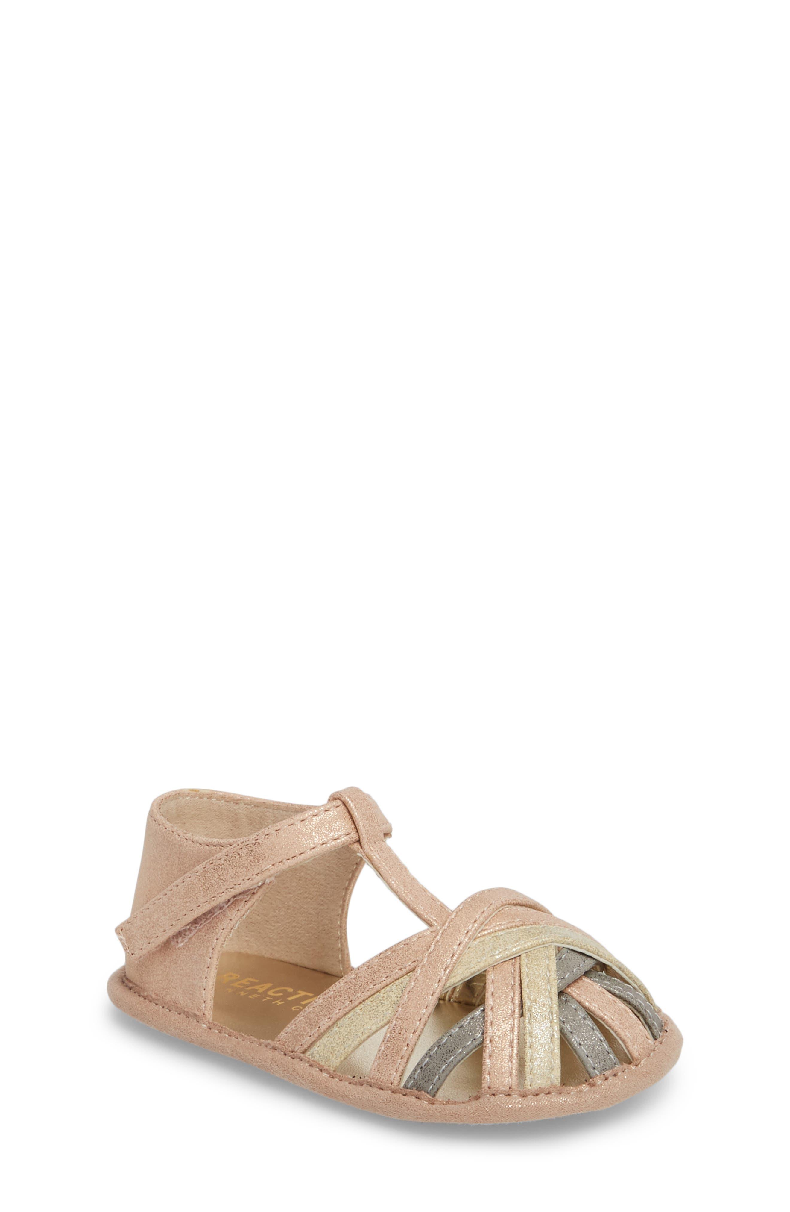 Wisp Metallic Sandal,                             Main thumbnail 1, color,                             Rose Gold