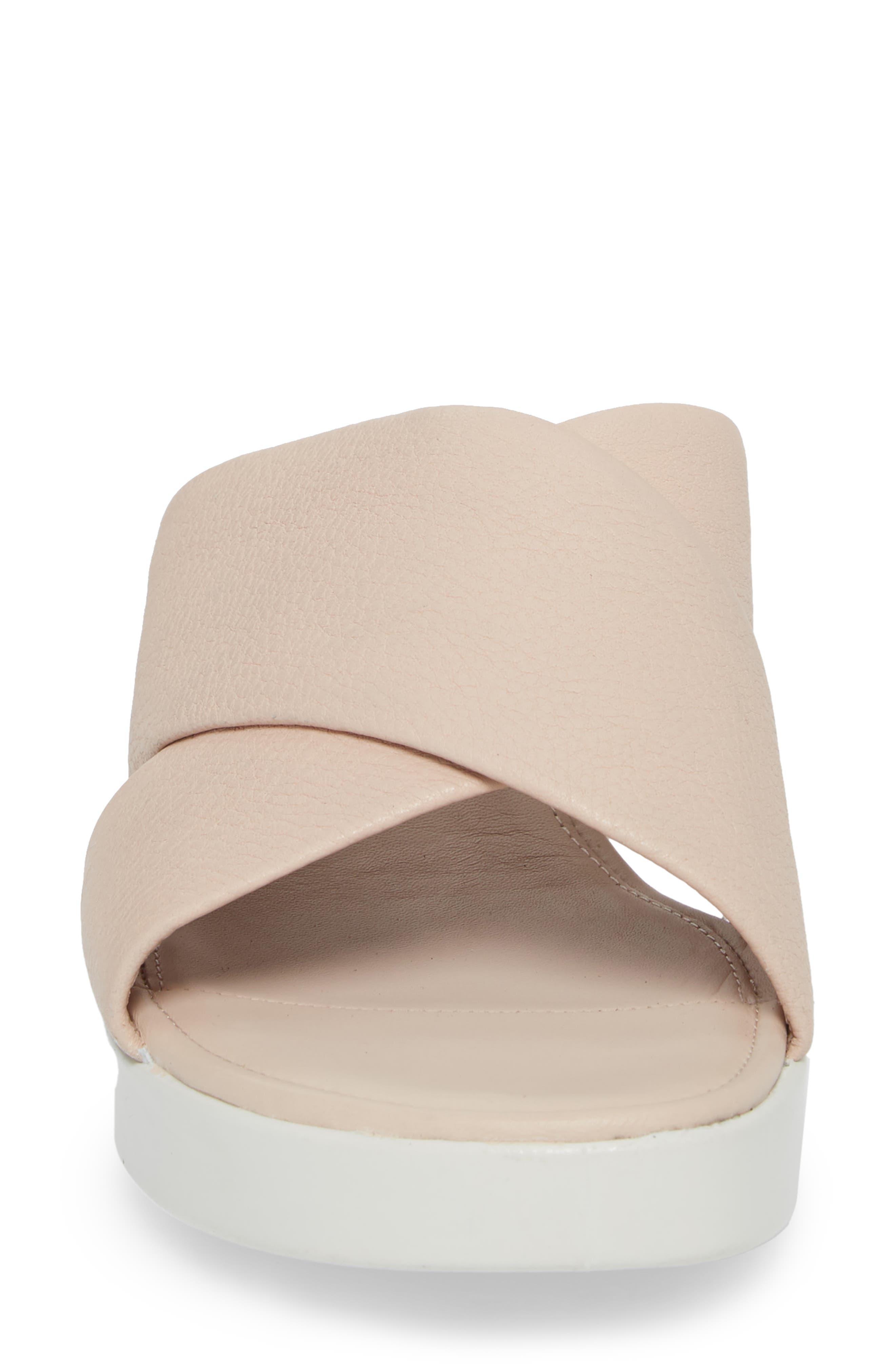 Touch Slide Sandal,                             Alternate thumbnail 4, color,                             Rose Dust Leather
