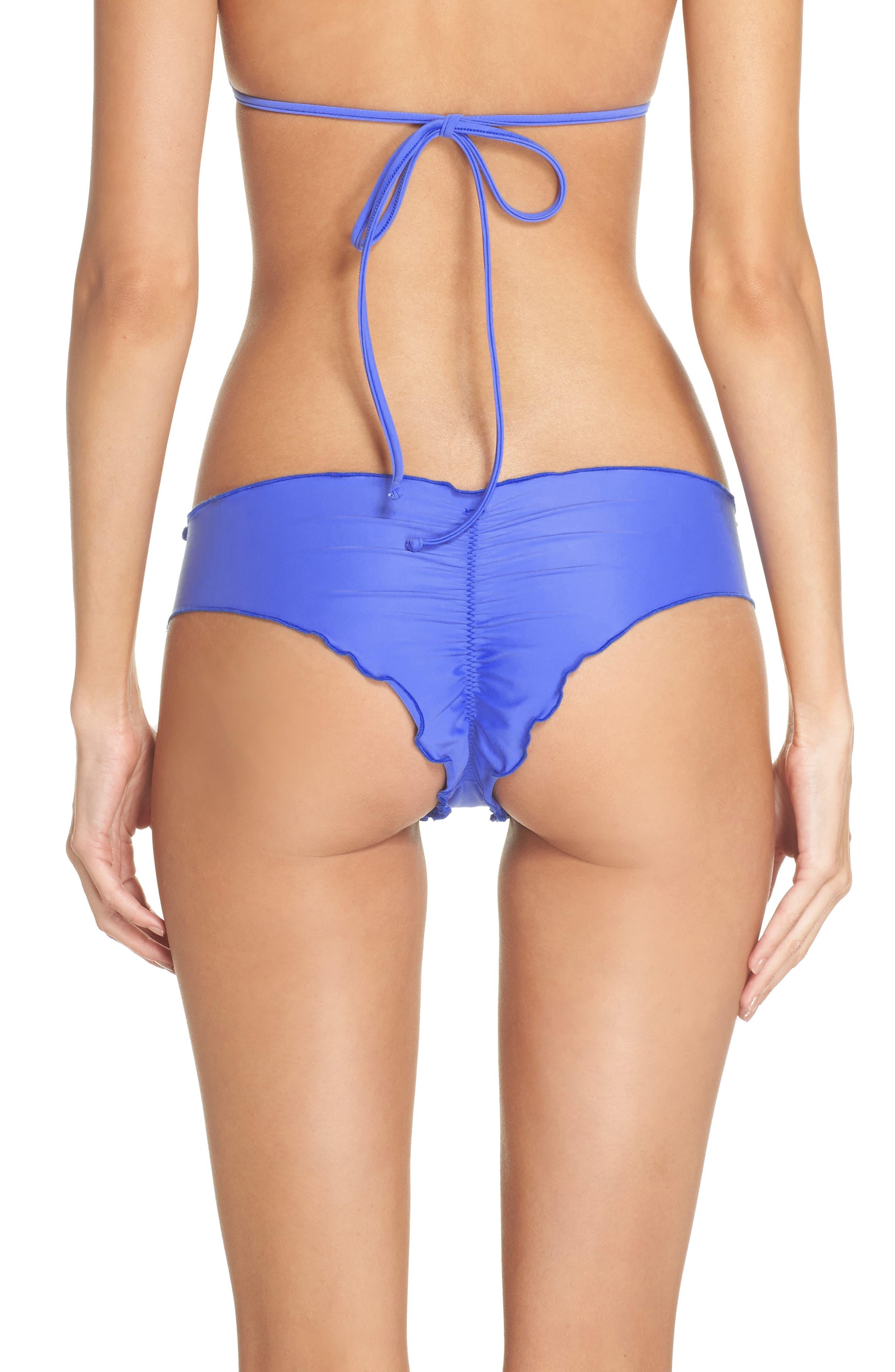 'Wavy' Brazilian Bikini Bottoms,                             Alternate thumbnail 2, color,                             Cascade