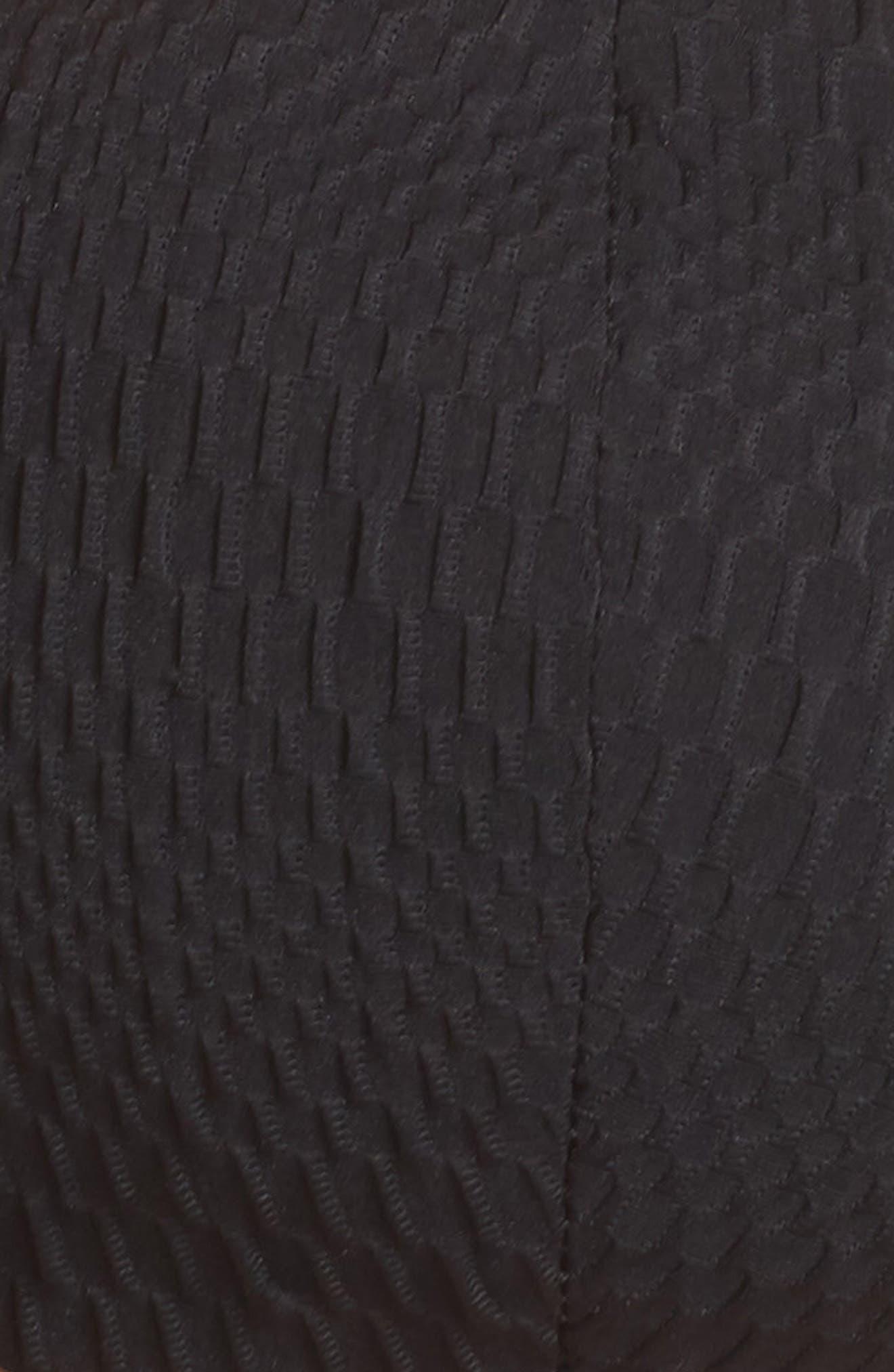 Perla Bandeau Bikini Top,                             Alternate thumbnail 4, color,                             Black