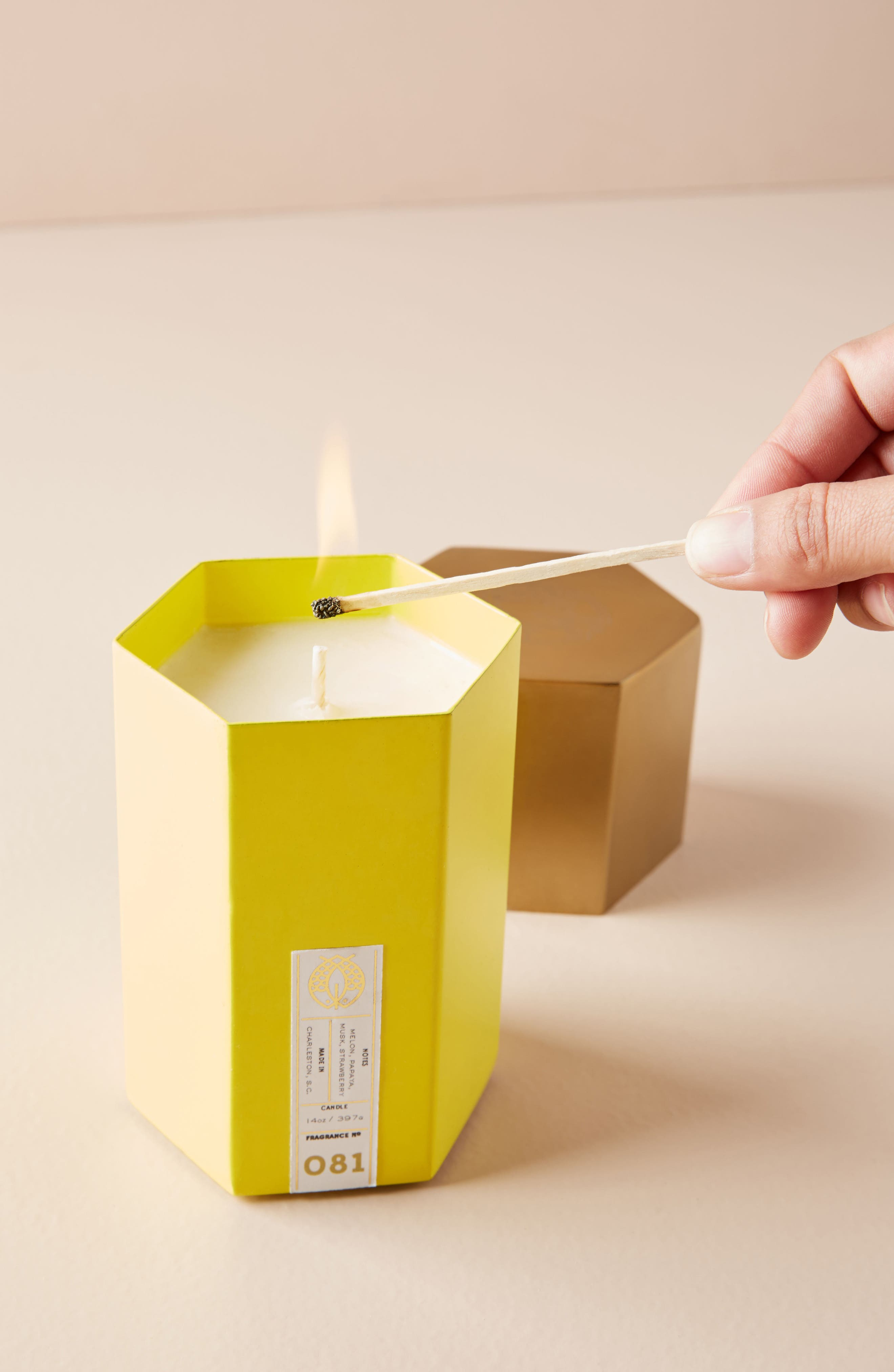Anthropologie Candlefish Hexagonal Candle
