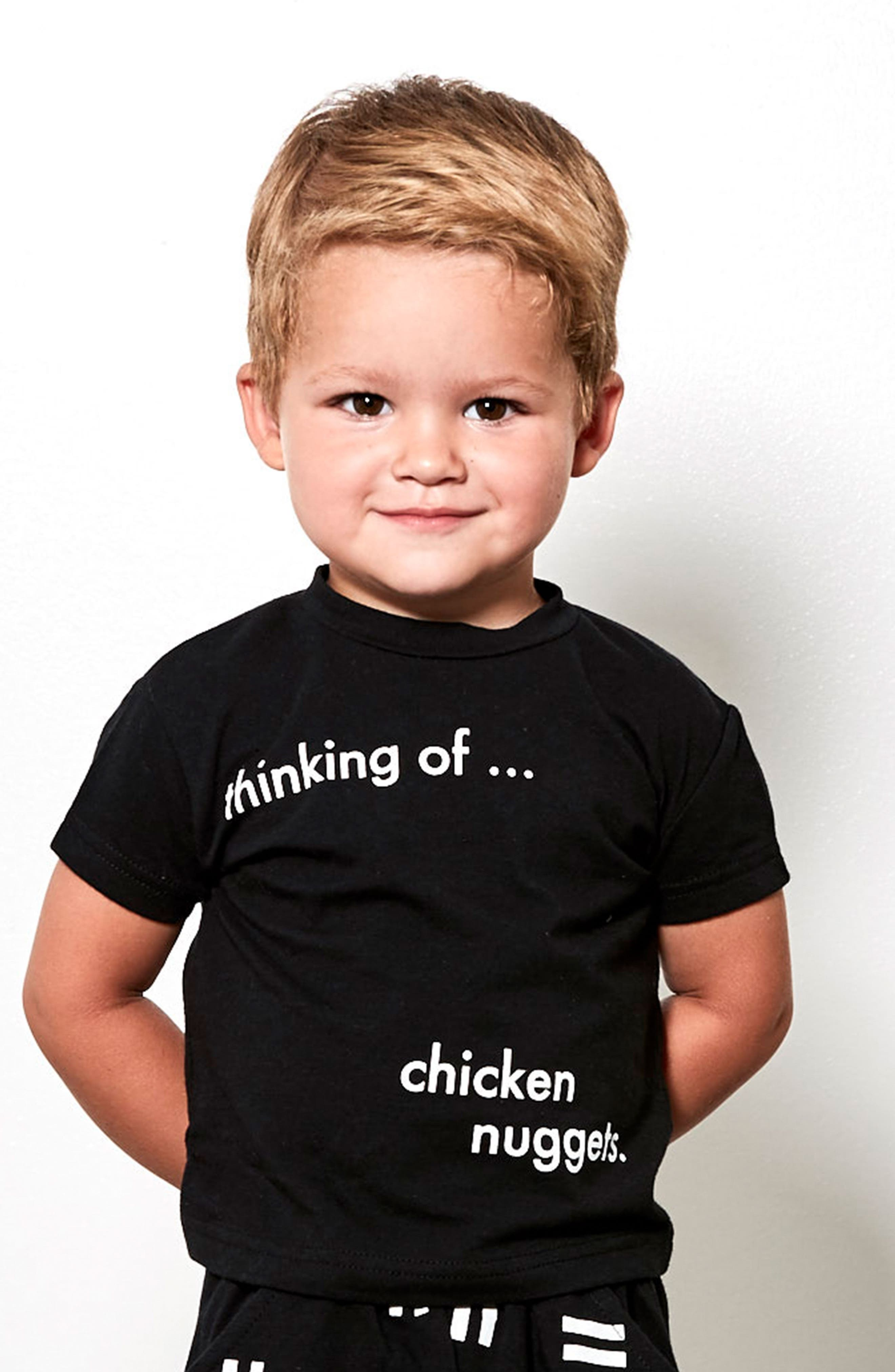 Chicken Nuggets T-Shirt,                             Alternate thumbnail 3, color,                             Black