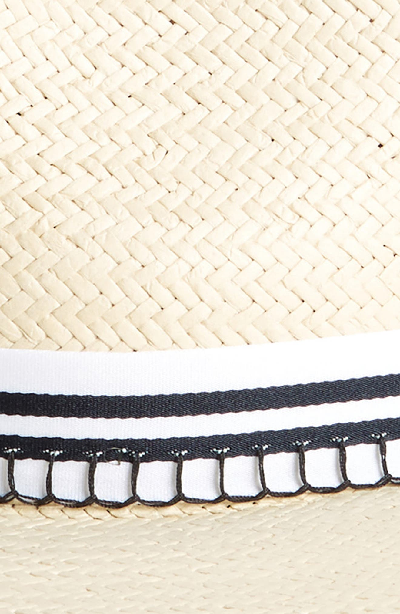 Packable Straw Fedora,                             Alternate thumbnail 2, color,                             Natural