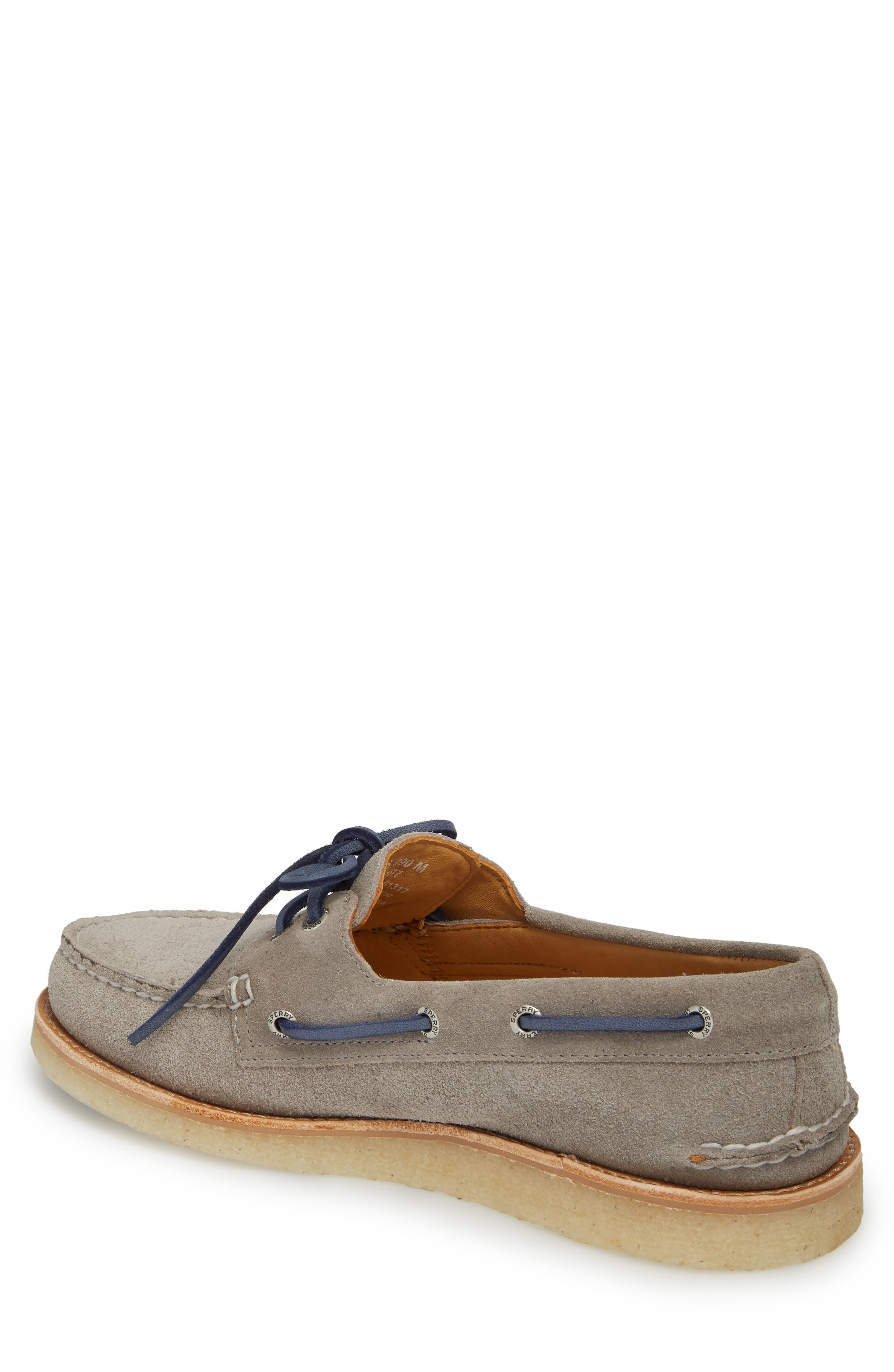 Gold Cup AO 2-Eye Boat Shoe,                             Alternate thumbnail 2, color,                             Grey Leather