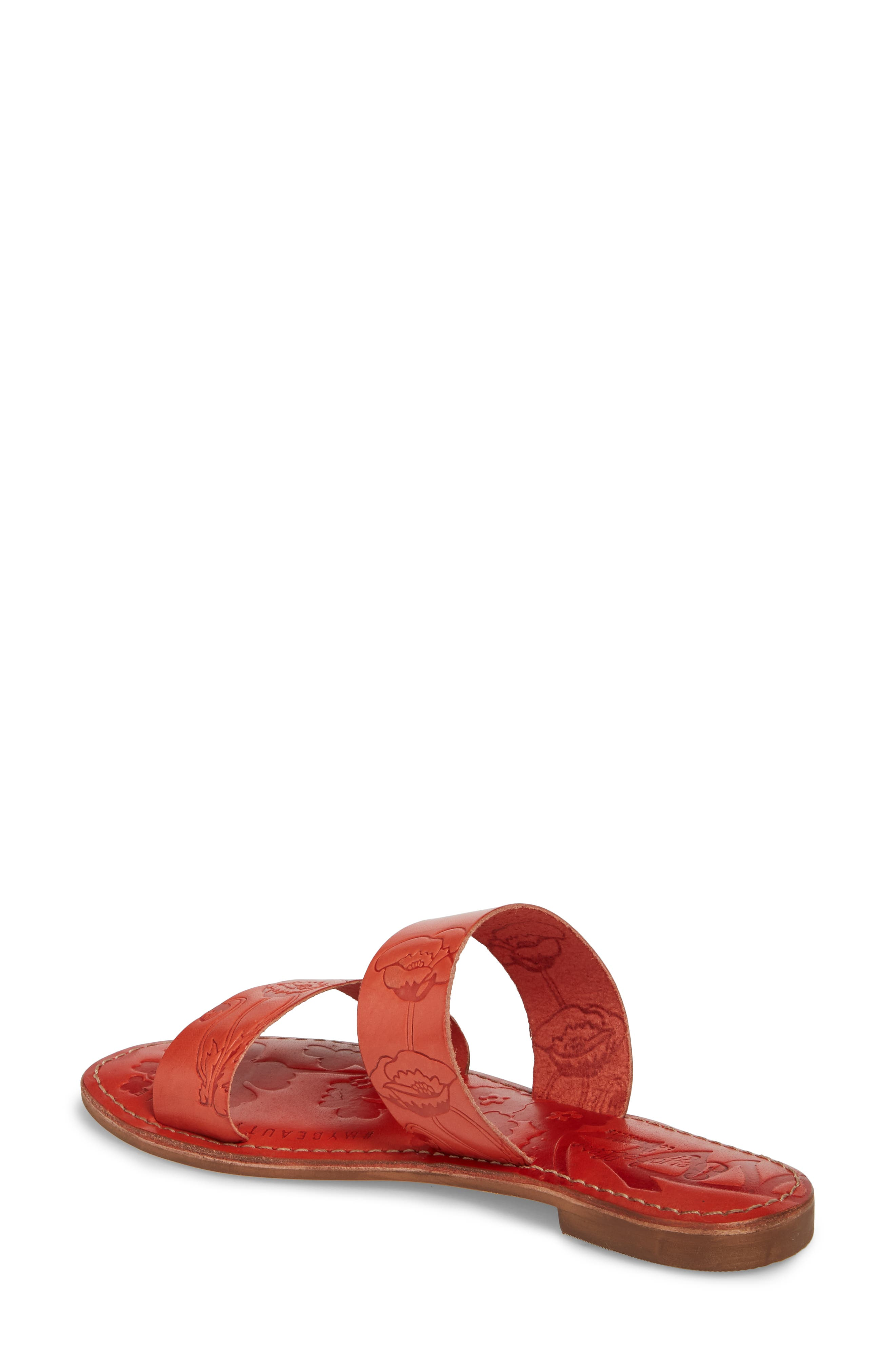 Sheroes Slide Sandal,                             Alternate thumbnail 2, color,                             Red Leather