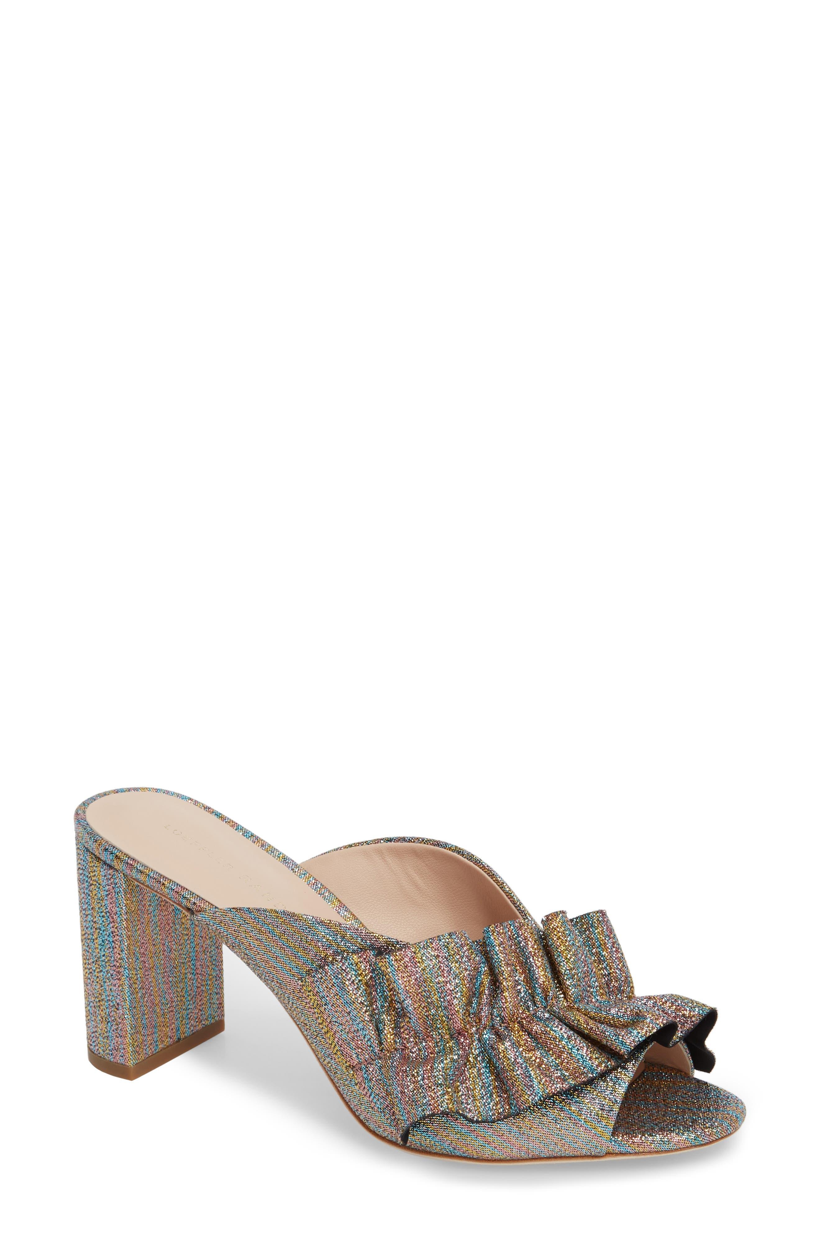 Loeffler Randall Esme Ruffled Mule Sandal (Women)