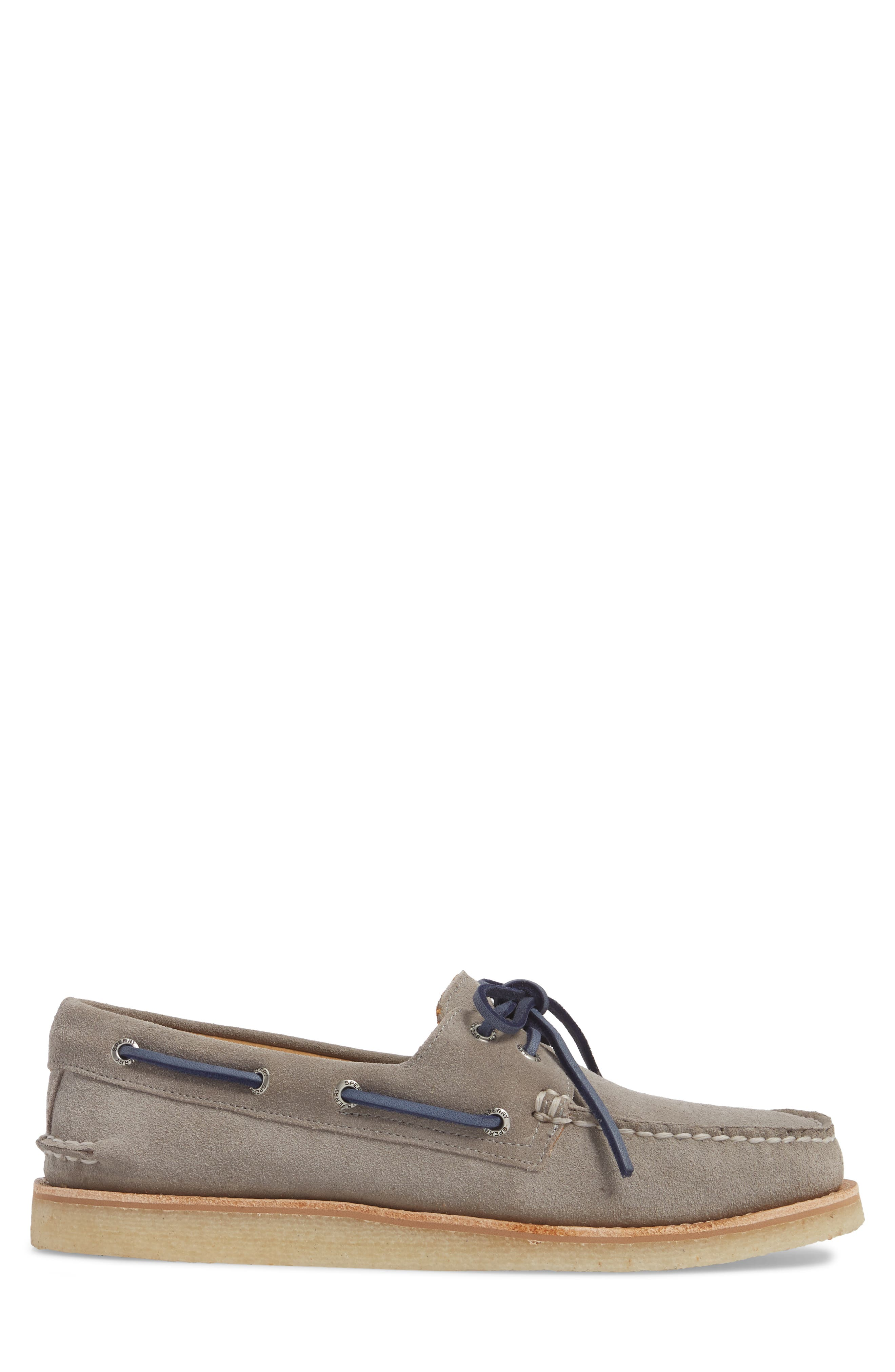 Gold Cup AO 2-Eye Boat Shoe,                             Alternate thumbnail 3, color,                             Grey Leather