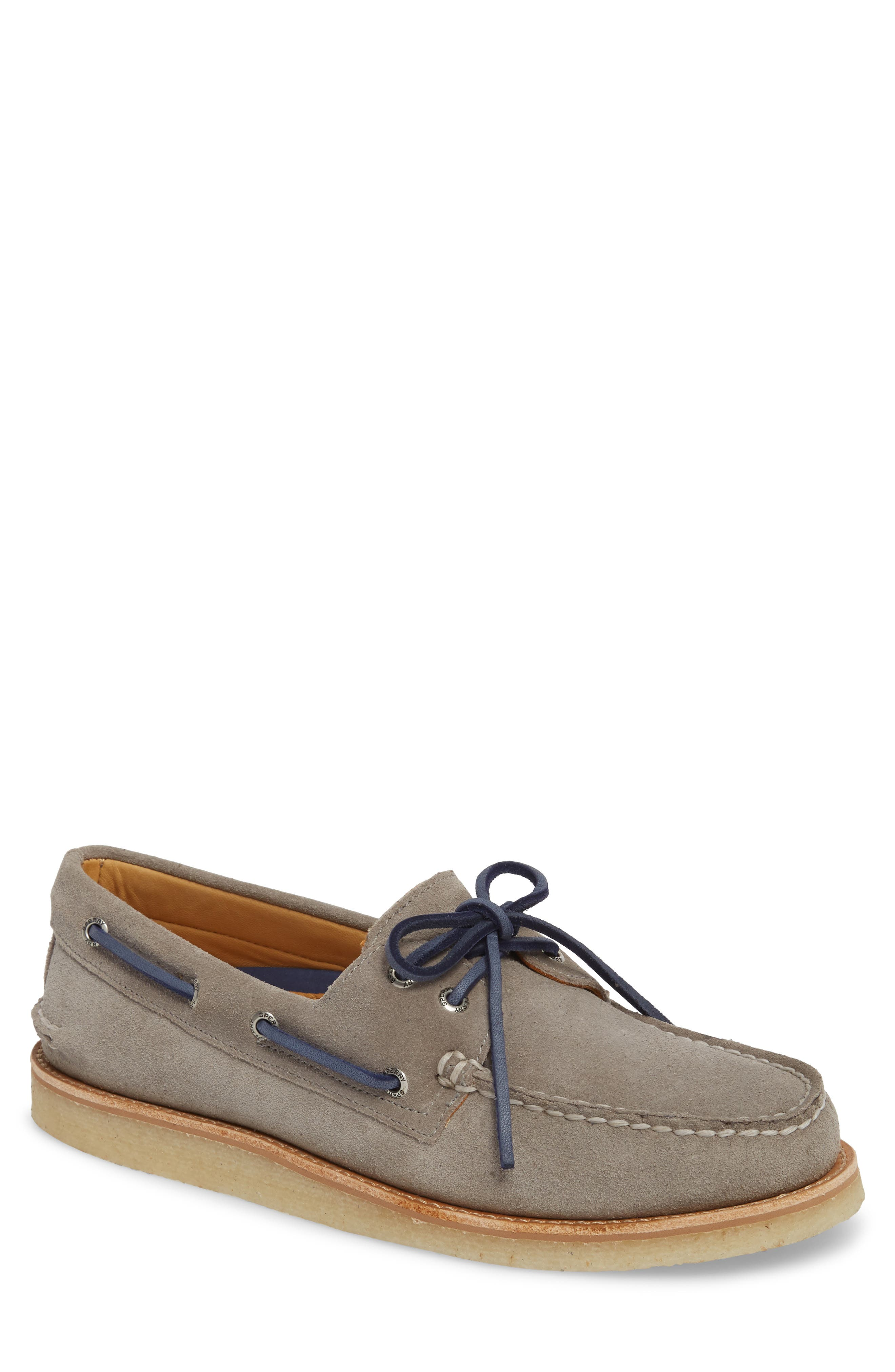 Gold Cup AO 2-Eye Boat Shoe,                             Main thumbnail 1, color,                             Grey Leather